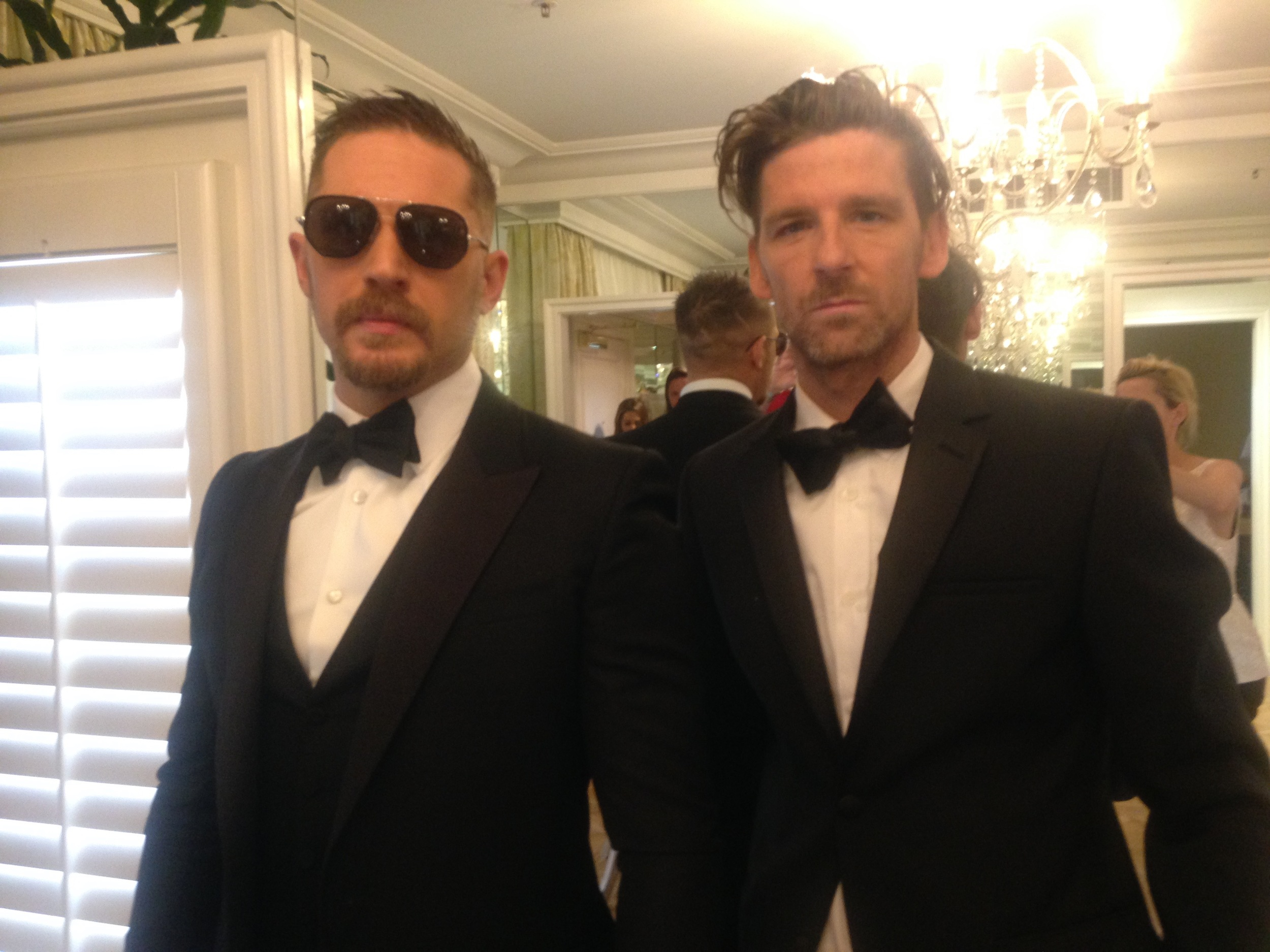 Tom Hardy in Gucci and Paul Anderson in Calvin Klein