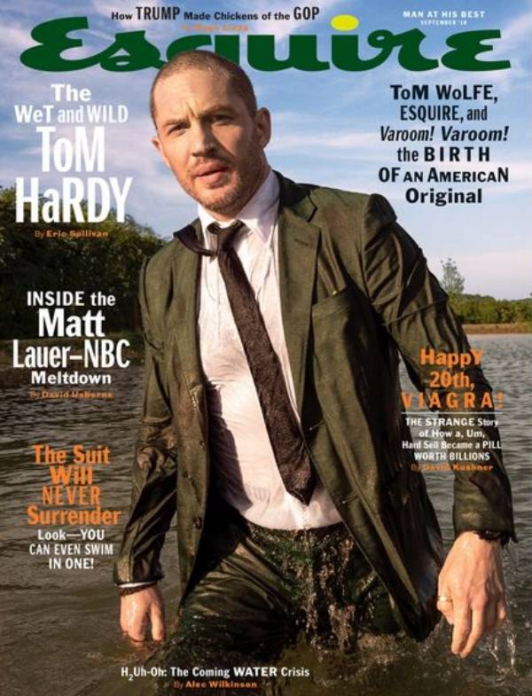 Tom Hardy in Gucci for Esquire September 2018