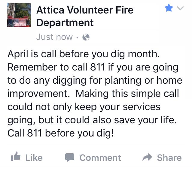Attica Volunteer Fire Dept. Facebook