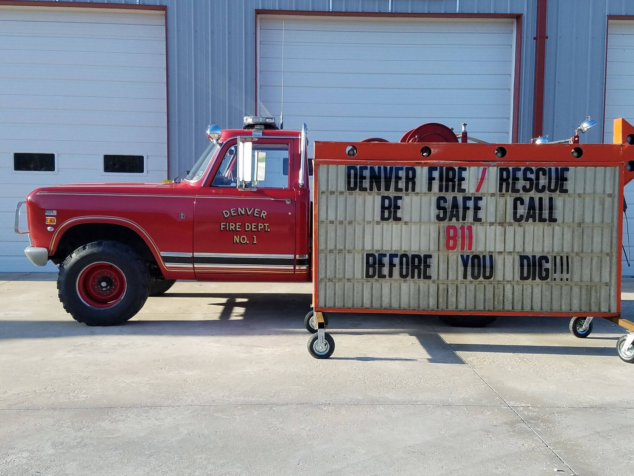 "denver volunteer fire department - ""be safe call 811…"""