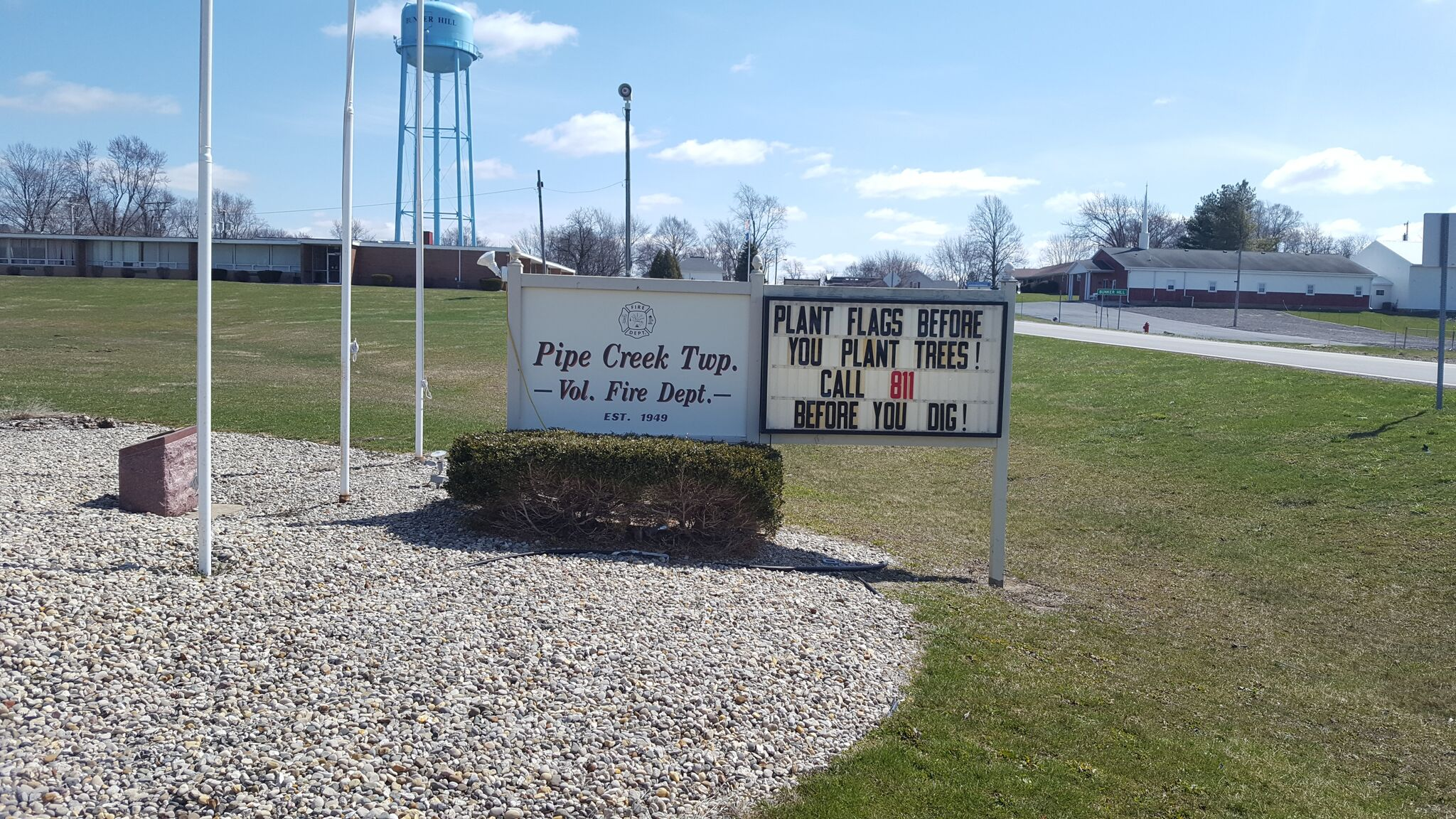 "pipe creek township - ""plant flags before you plant trees…"""