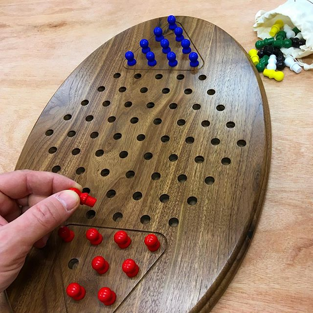 "A customized game for a unique situation. We were touched and humbled by this recent review from Anne-- ""My husband loves playing Chinese Checkers but has developed both hand tremors and visual tracking problems that make using a traditional board difficult.... When I contacted Cynthia and Nathan to see if they would produce a customized board for us they immediately took on the task! They asked thoughtful and detailed questions regarding my husband's specific needs, sent us a detailed illustration for our approval, and made our board exactly the way we asked. Our new game is beyond AMAZING!!! It is absolutely beautiful, and perfect in every way. Thank you, Cynthia and Nathan!!!"""
