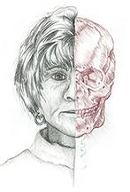 Carlisle illustration;              skeleton, after Leonardo Davinci