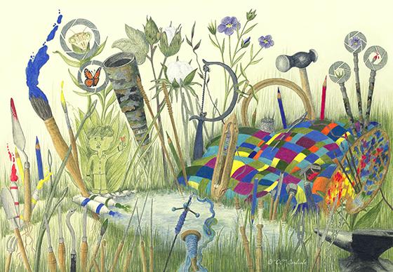 "Artists Tools Ecosystem ©2016 C Olivia Carlisle (OC"")"