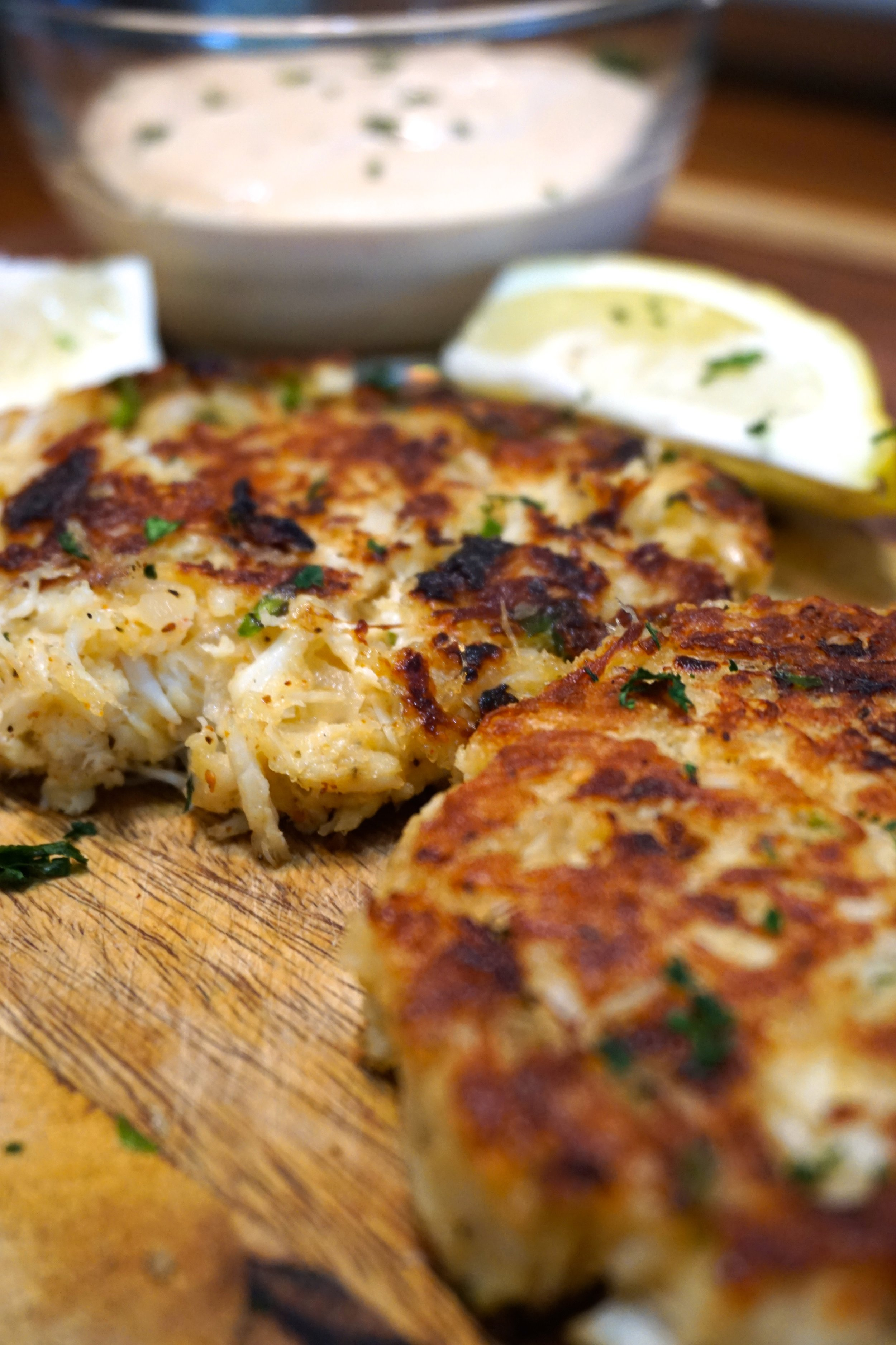 Crab Cakes - The perfect appetizer or main course for a