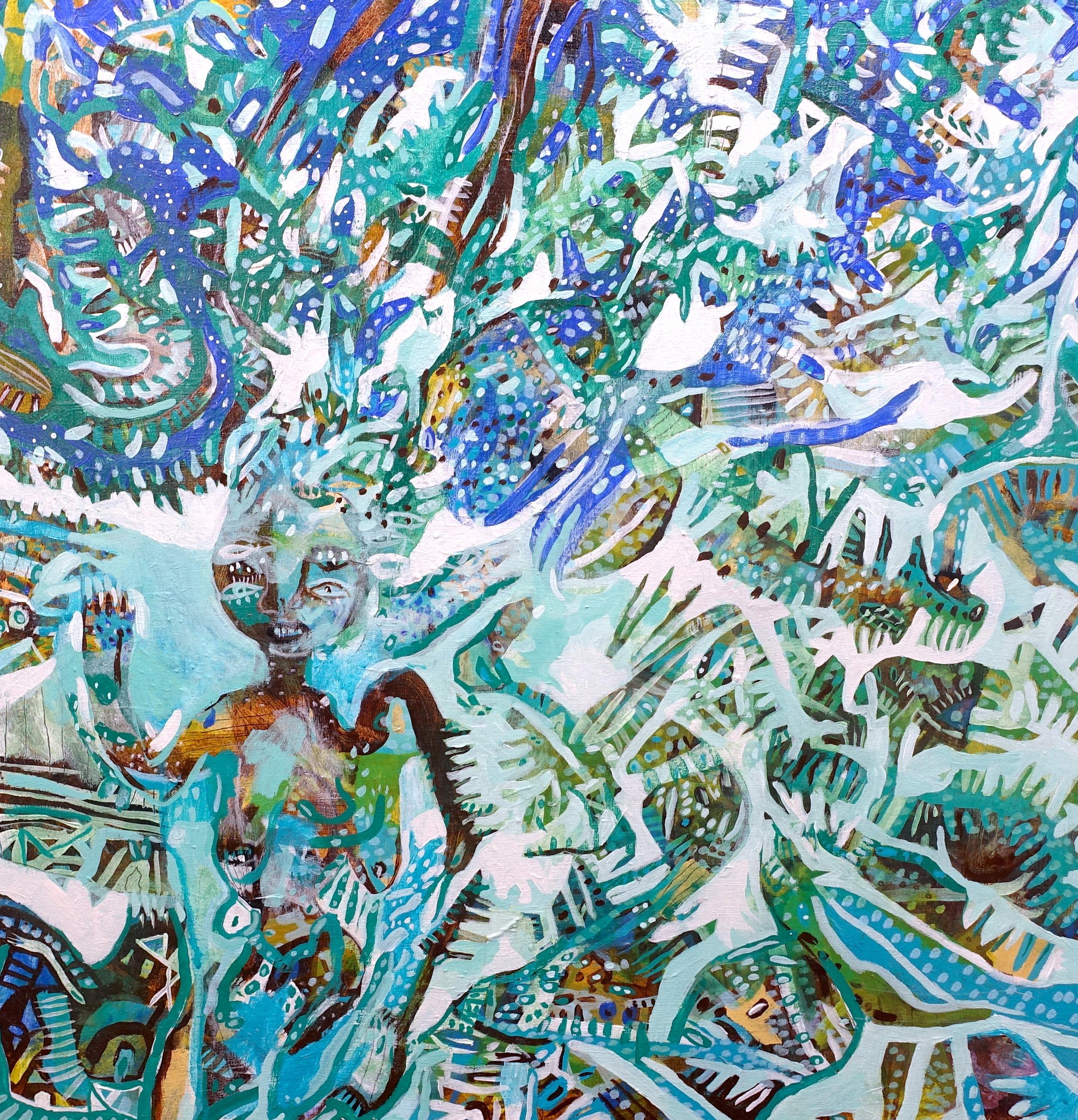 "Embodiment   Marcie Rohr, 2018  24"" x 24""  acrylic on birch panel   $700 CAD"