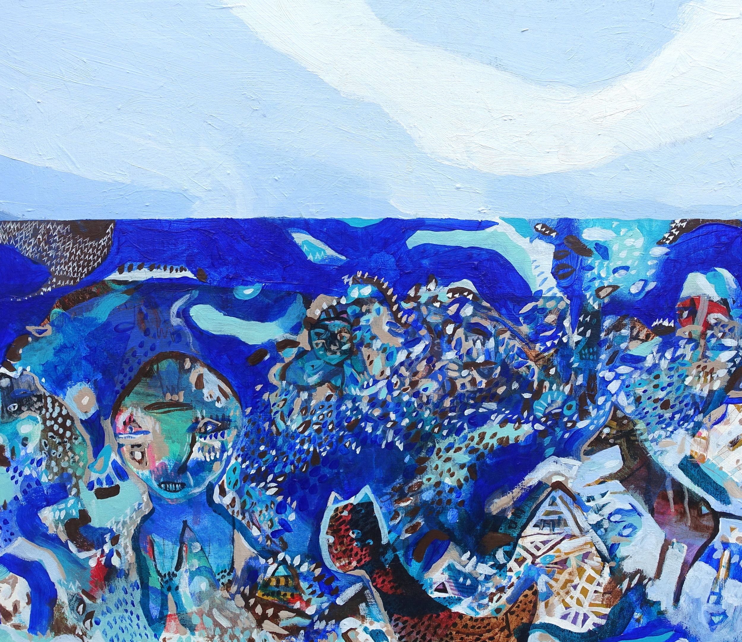 "Exile   Marcie Rohr, 2018  24"" x 20""  acrylic on birch panel   $600 CAD"