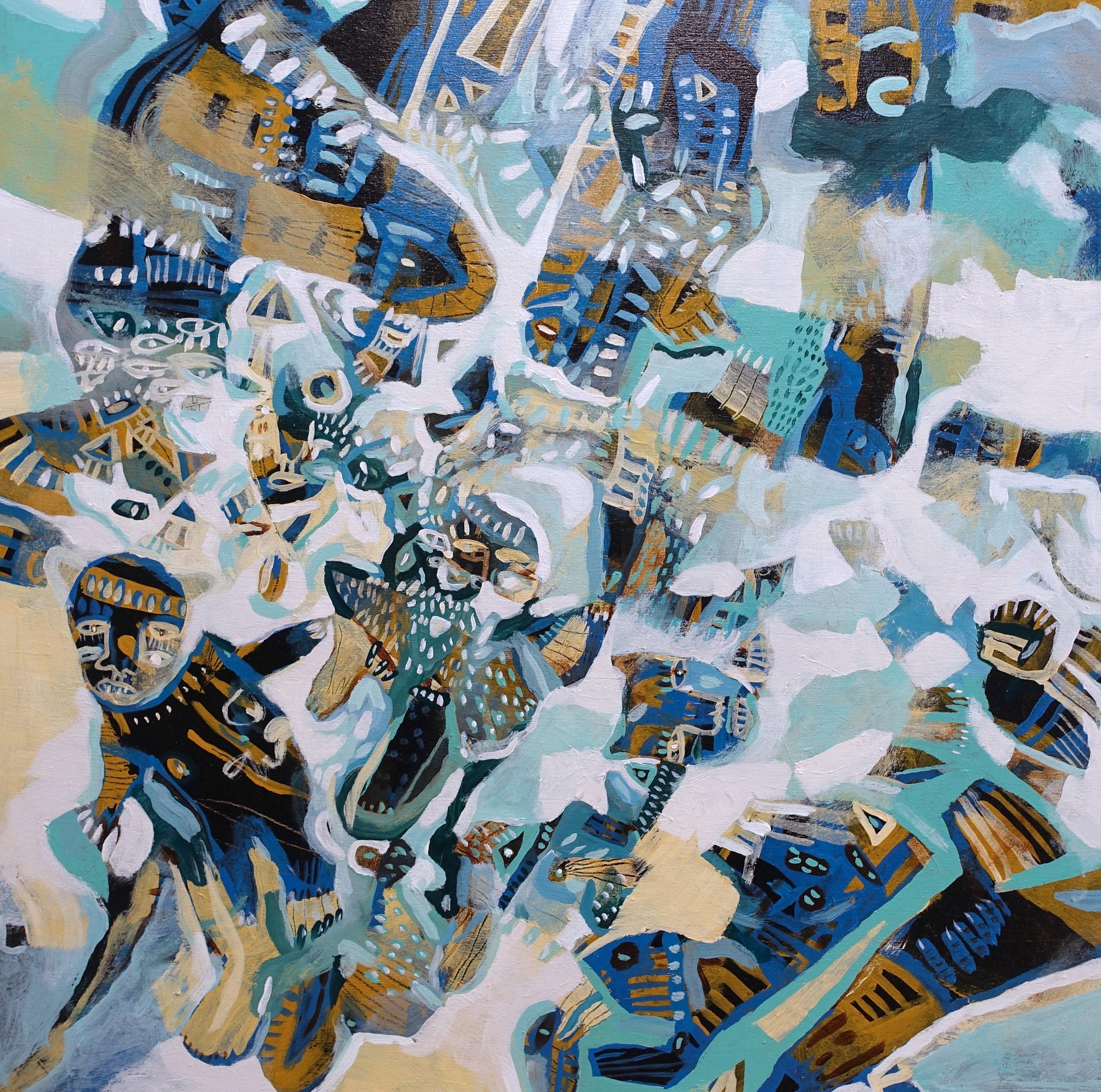 "Belief   Marcie Rohr, 2018  24"" x 24""  acrylic on birch panel   $700 CAD"