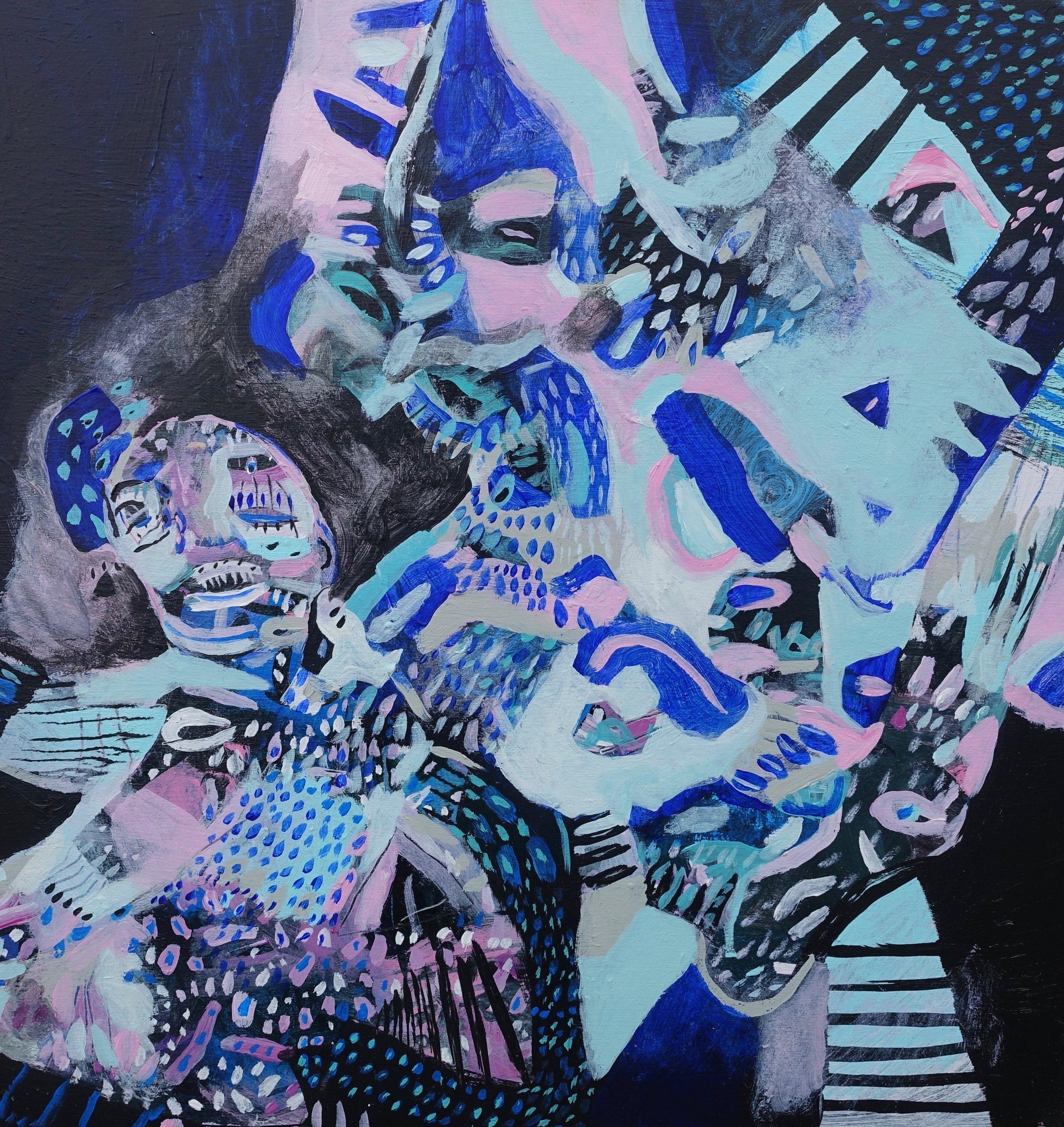 "The Sound of Singing   Marcie Rohr, 2018  16"" x 16""  acrylic on birch panel   $370 CAD"