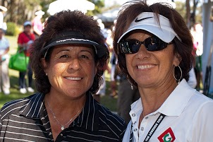 Hall of Famer Nancy Lopez with Phyllis Barone