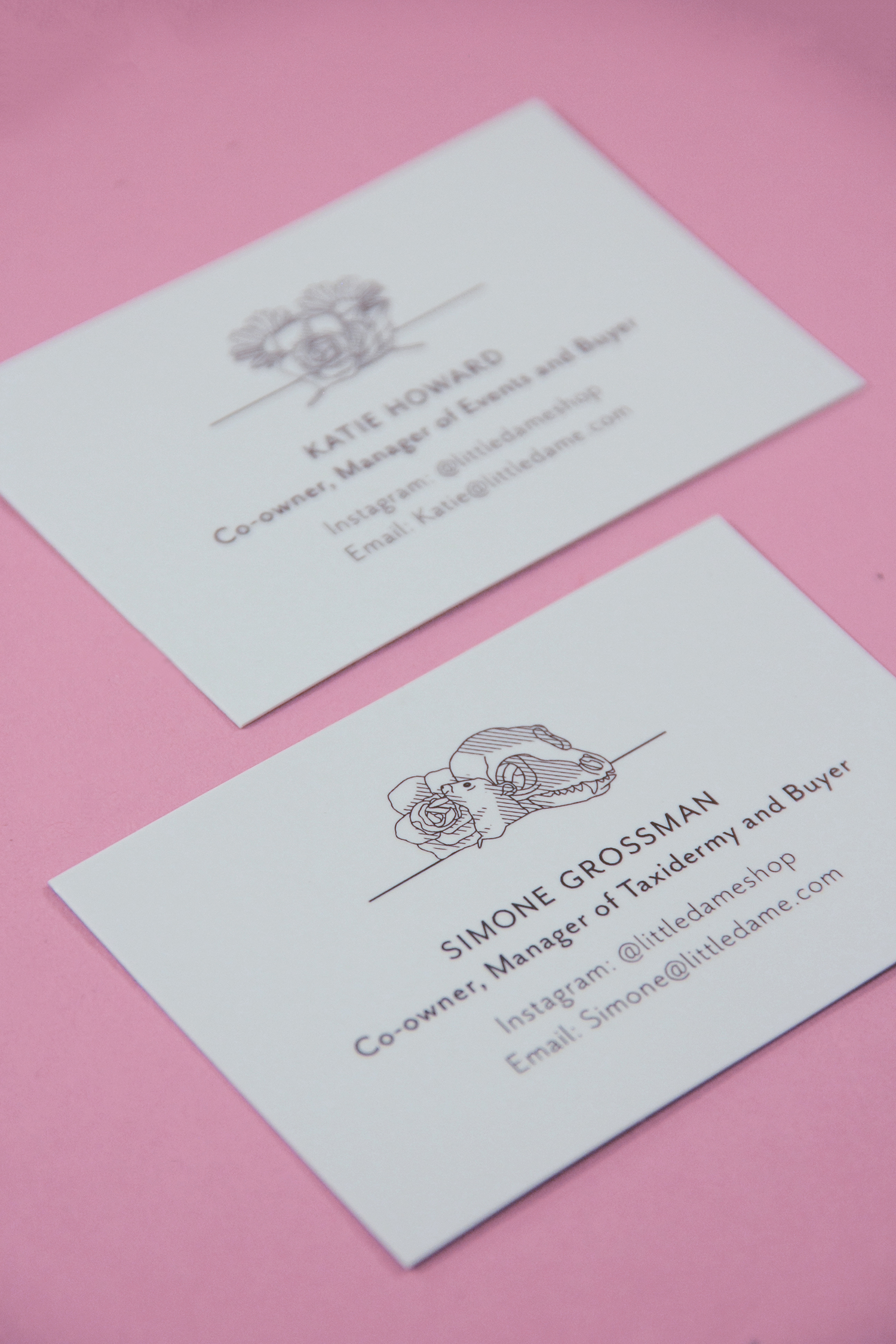Little Dame Shop: Brand: Business Card