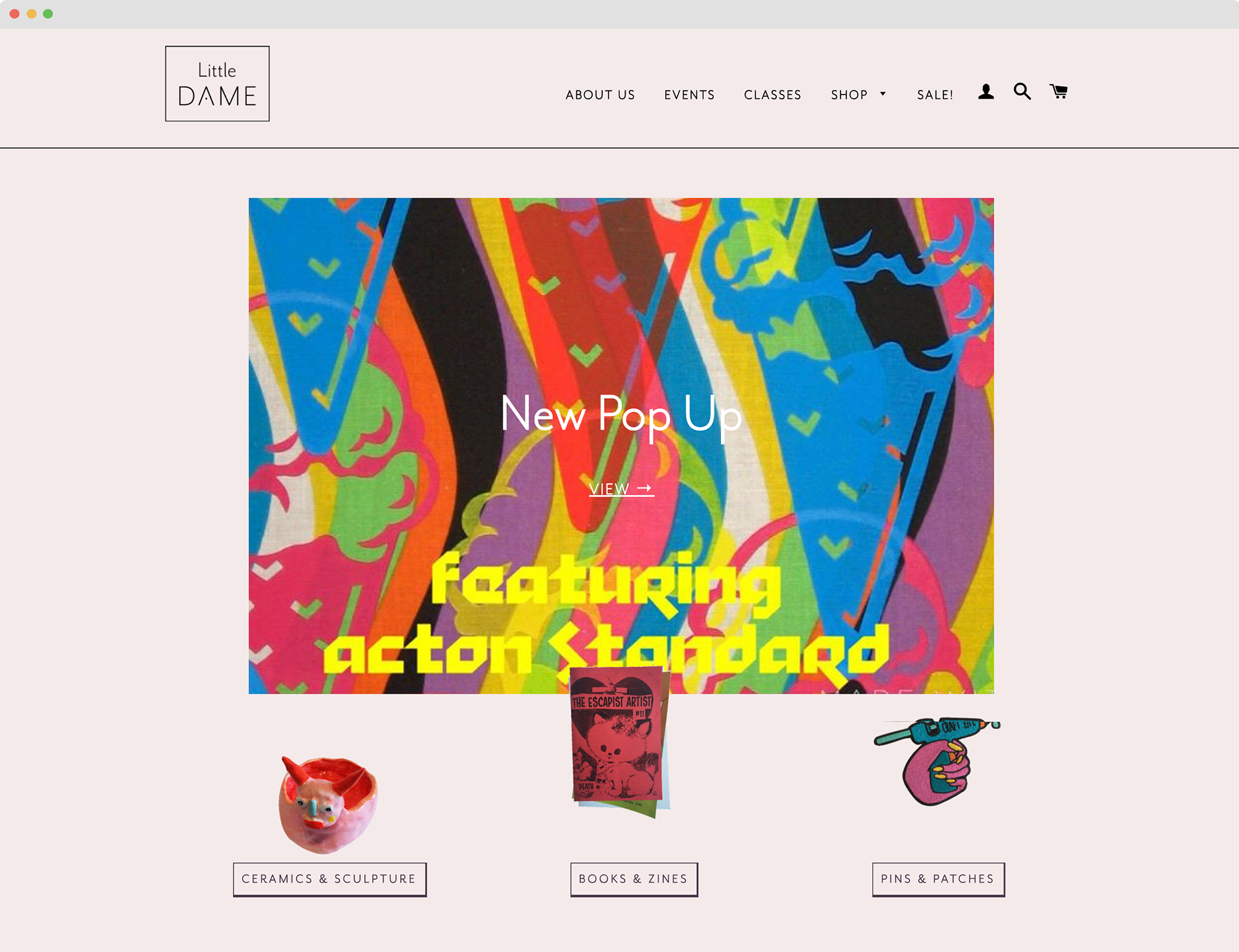 Little Dame Website Design | Feels Design Studio | Annie Szafranski