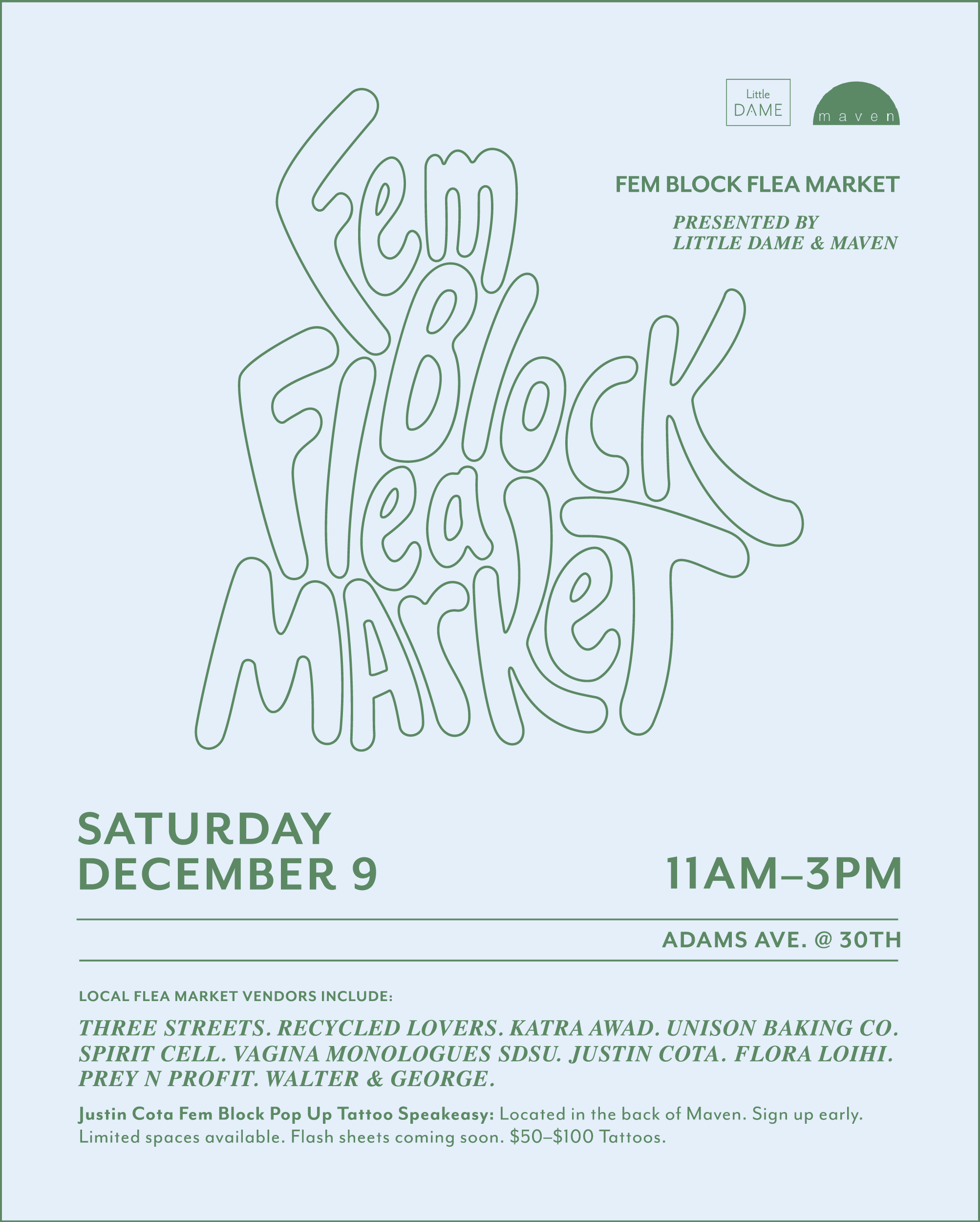 fem block flea market december