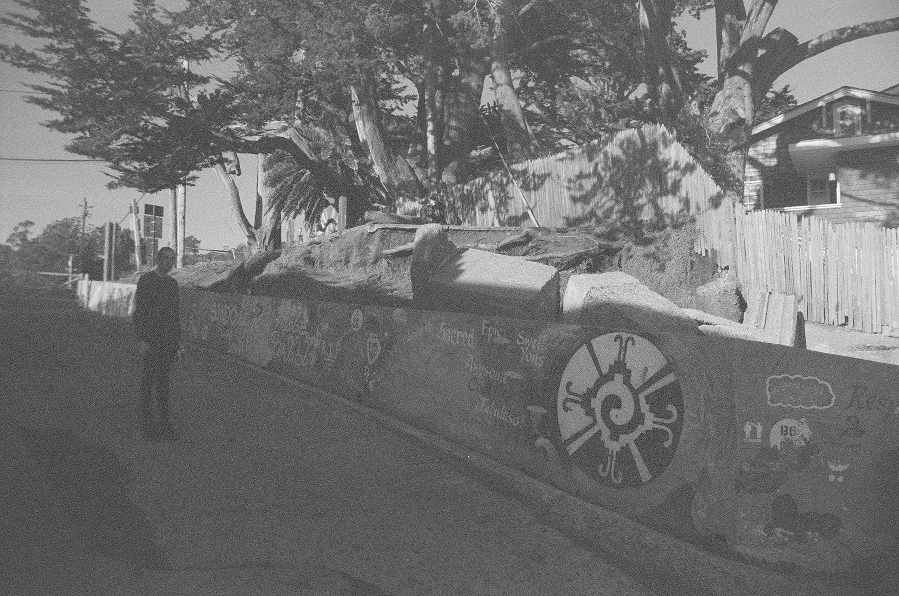 Jeff + Graffiti Sea Wall | Bolinas, CA | © 2018 Anne Szafranski.
