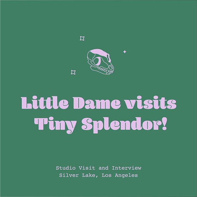 I'm so excited for @littledameshop's new blog! Read their first post feat. Tiny Splendor if you haven't done so already! It's a lovely behind the scenes visit. ✨ . . We'll be updating the website soon along with the typography to make the reading experience easier for these :D  #sandiego #smallbusiness #typography #illustration #webdesign #printmaking #zines