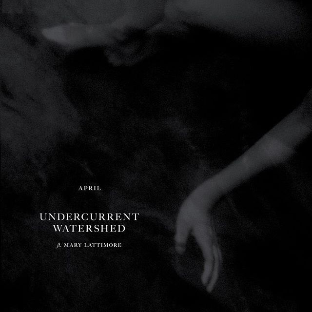 "Artwork for the latest single, ""undercurrent/watershed"" by @listentoapril ft. Mary Lattimore. You can listen to it repeatedly on  @spotify. 😌 . . I'd share it in my story it ~isn't working rn~ . . #sandiego #sanfrancisco #ambient  #music #graphicdesign #typography #freelancedesigner"