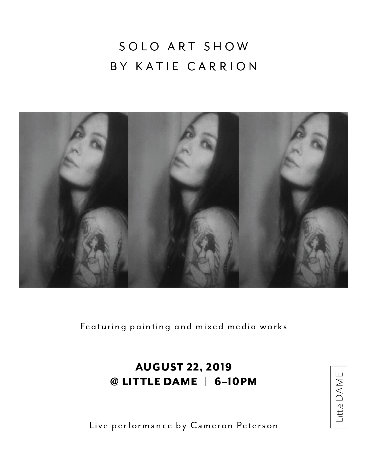 Solo Art Show by Katie Carrion,  8.5x11 Flyer