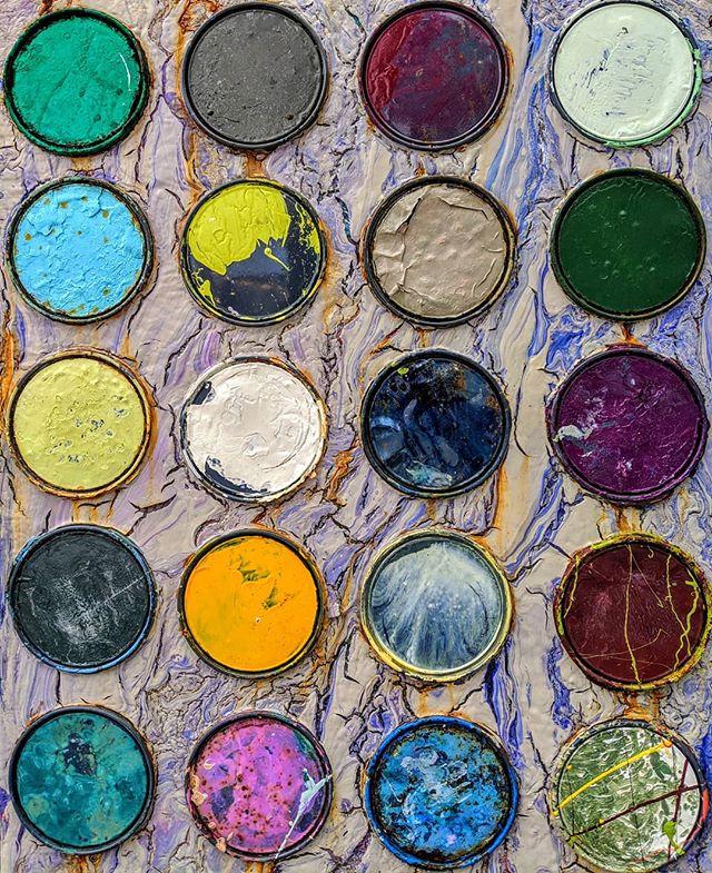 Paint lid sculpture. #teampixel #rocklandmaine