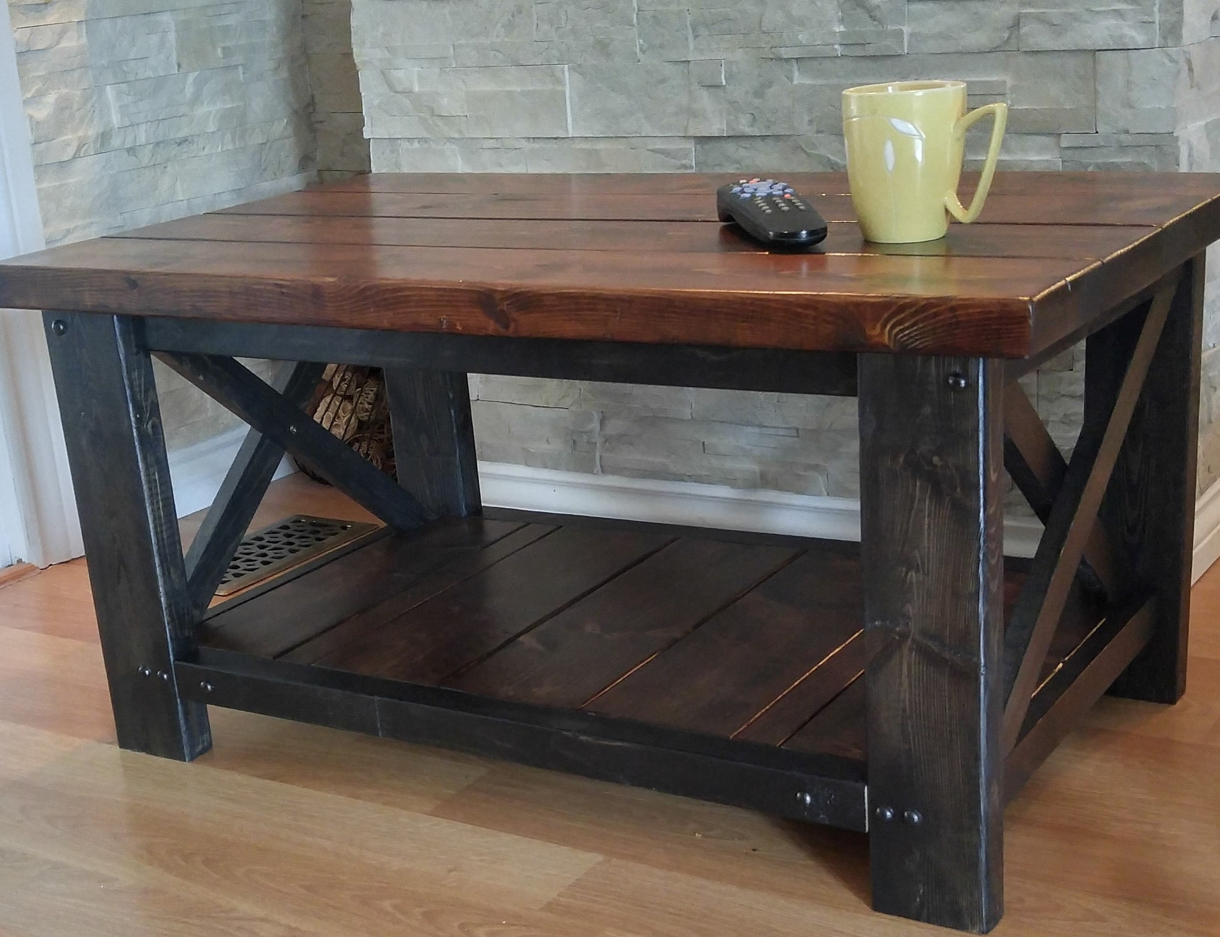 - Rustic Two Tone Coffee Table — Wooden That Be Nice
