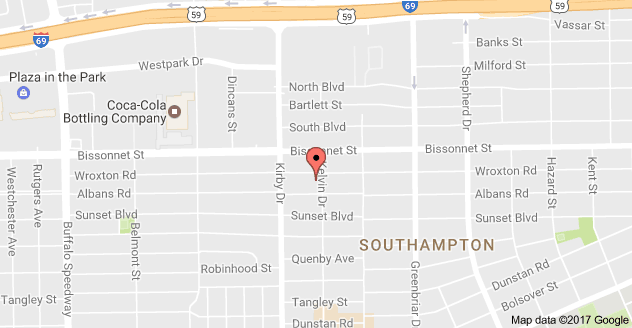 We are at the corner of Kelvin and Wroxton, a block east of Kirby and a block south of Bissonett.