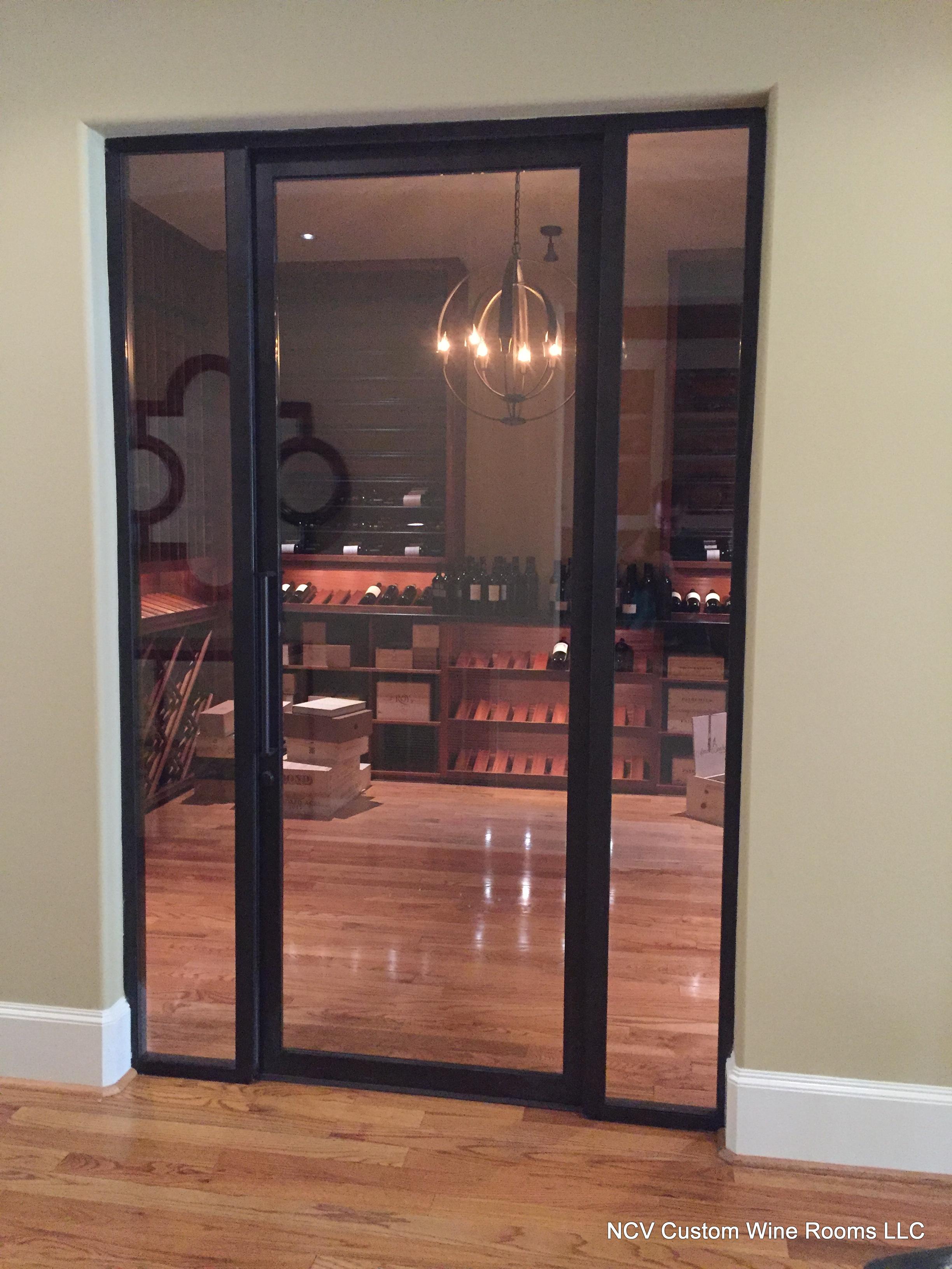 Custom metal and glass doors.