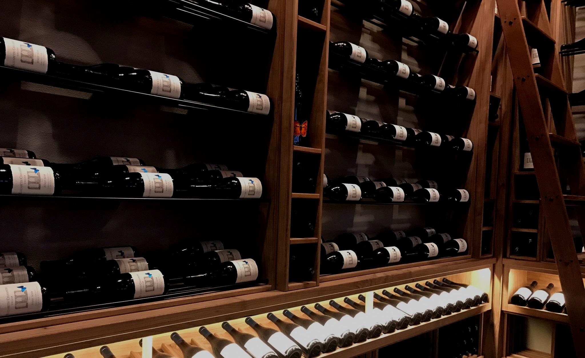 Custom Wine Features - Award winning, custom, turn-key, climate controlled wine features.