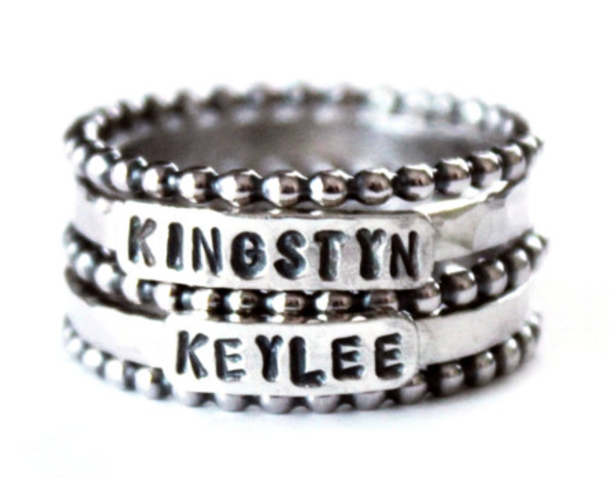(Rings shown are from www.etsy.com shop called GetNoticed)