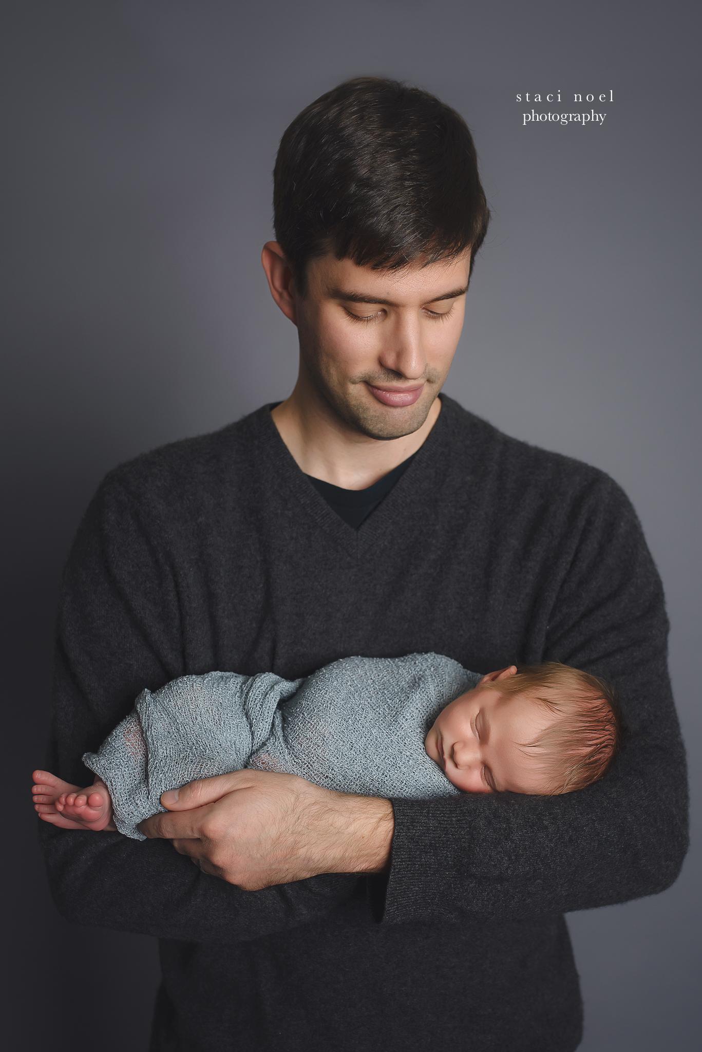 charlotte newborn boy with dad