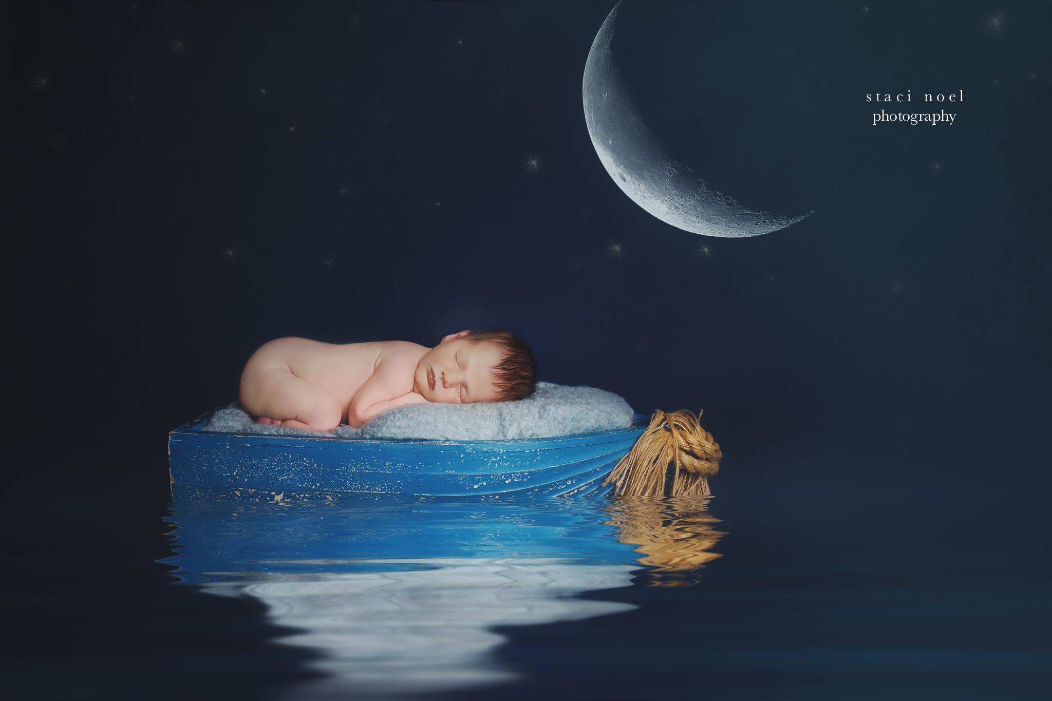 Staci Noel Photography captures newborn portrait of baby boy in charlotte nc