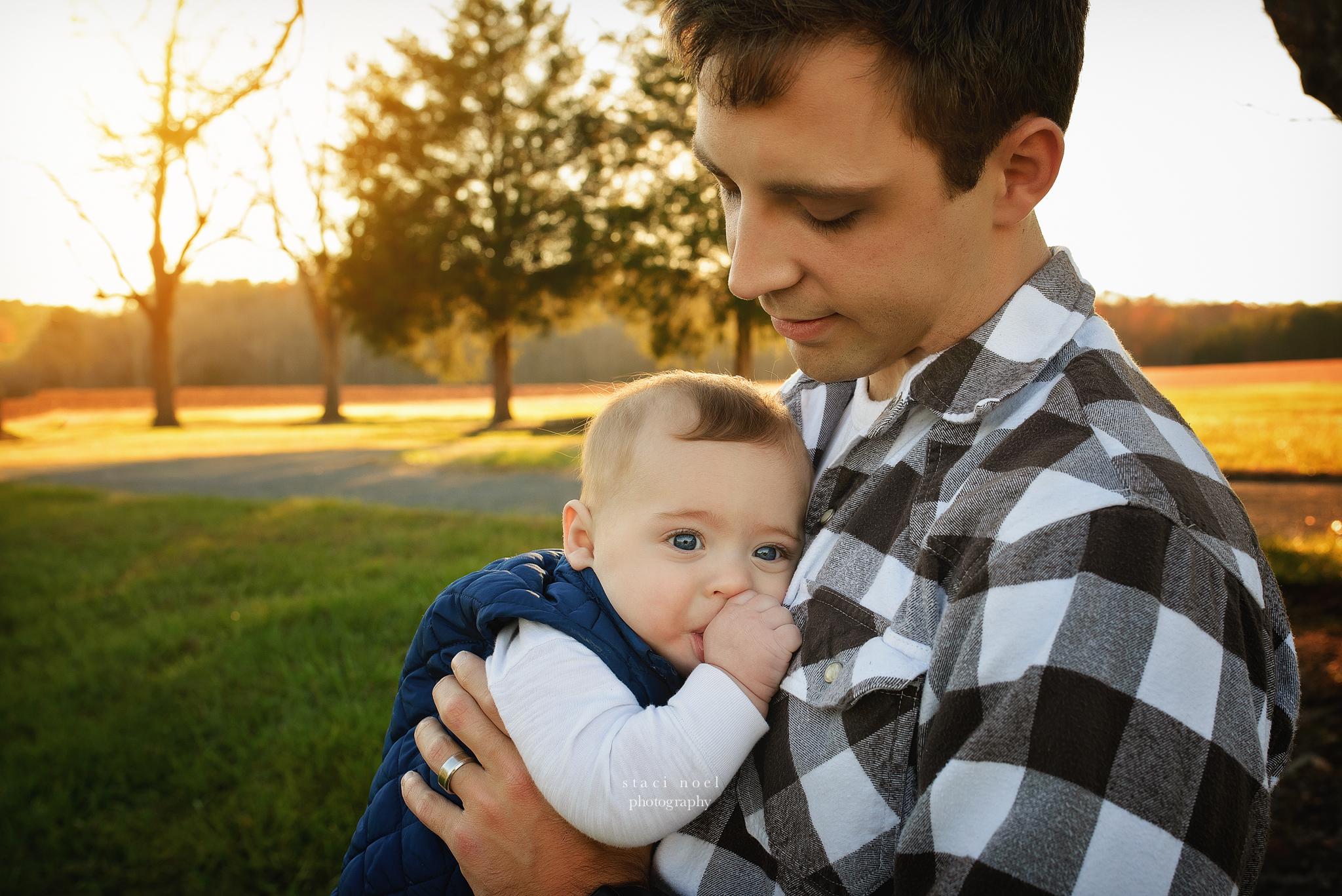 charlotte baby boy with dad portrait