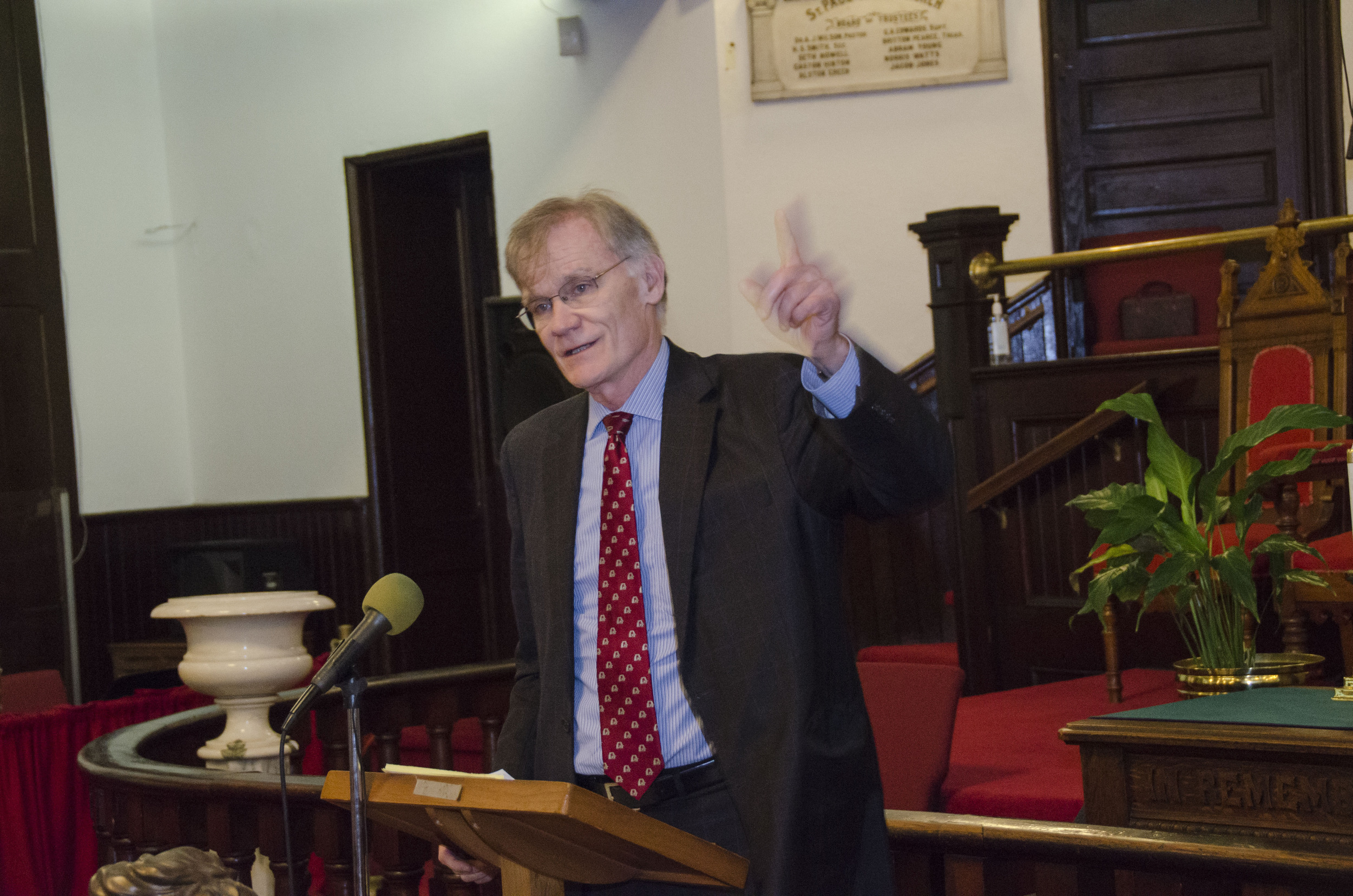 David Blight speaking at St. John AME Church in Raleigh, NC on 10/1/2015.