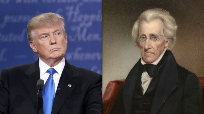 Trump has displayed an affinity for Jackson in the past     GETTY IMAGES