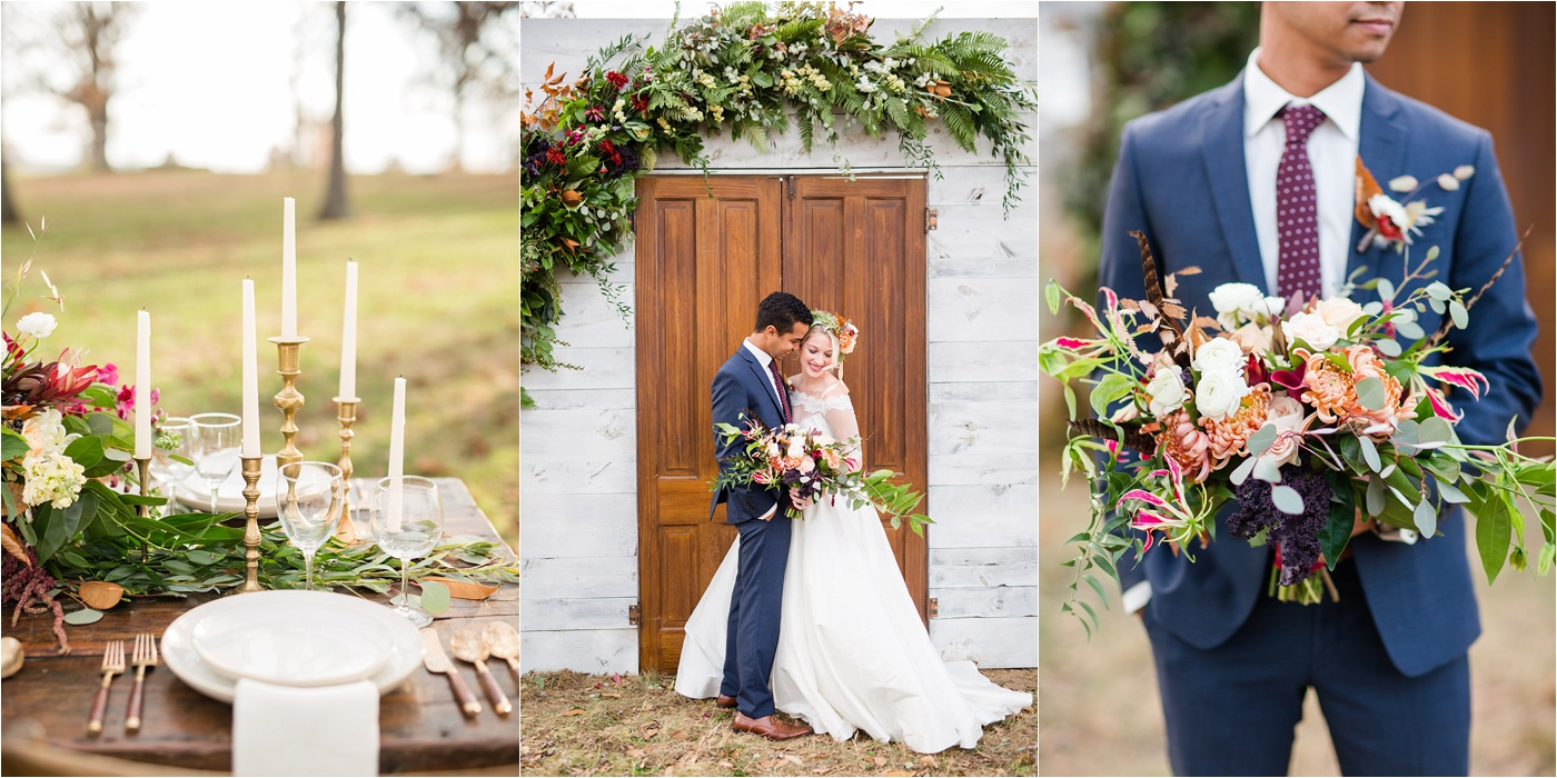 Rustic Fall Farm Wedding | KariMe Workshop Collage