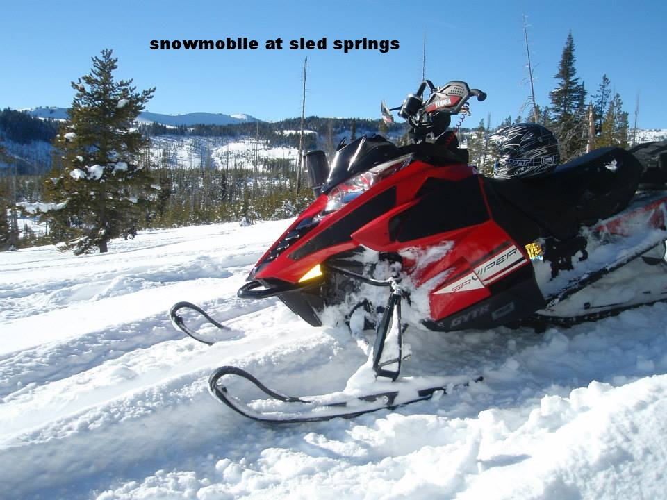 Snowmobile at Sled Springs