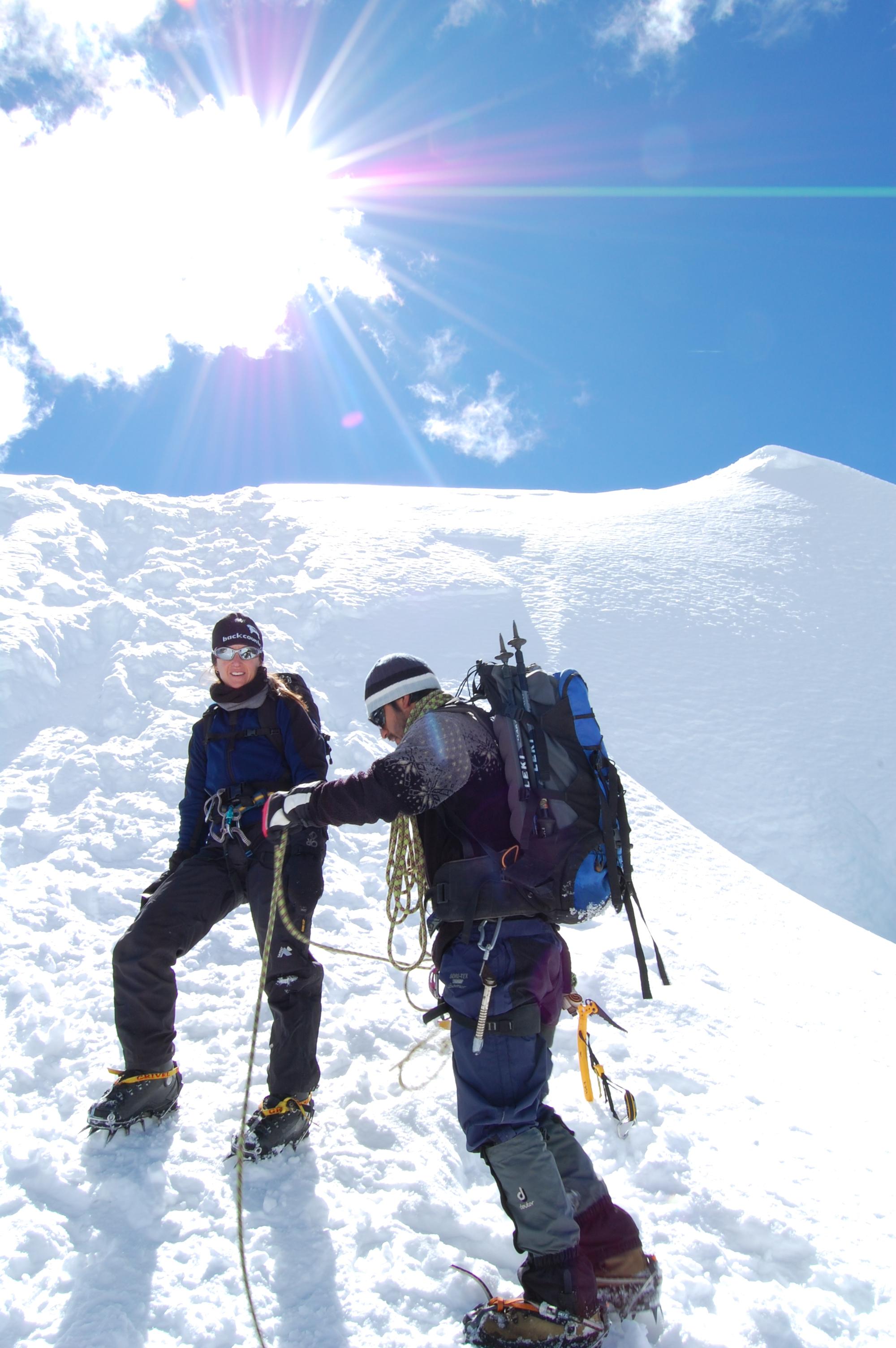 Ishinca descent, Cordillera Blanca, Peru