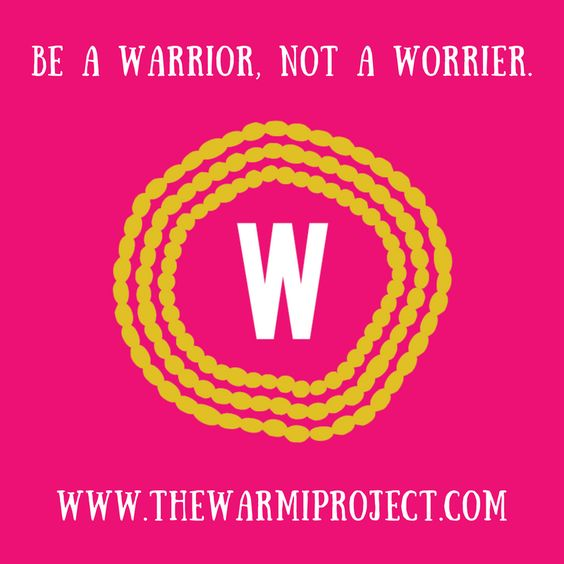 In the past my inner critic (Fear, Fret and Failure)  has managed my inner mentor (Gratitude, Grit and Grace) now I can say my inner WARRIOR is running the show and my inner WORRIER has been asked to kindly take a back seat.