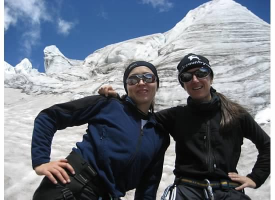 Glacier practice on Volcano Cayambe, Ecuador