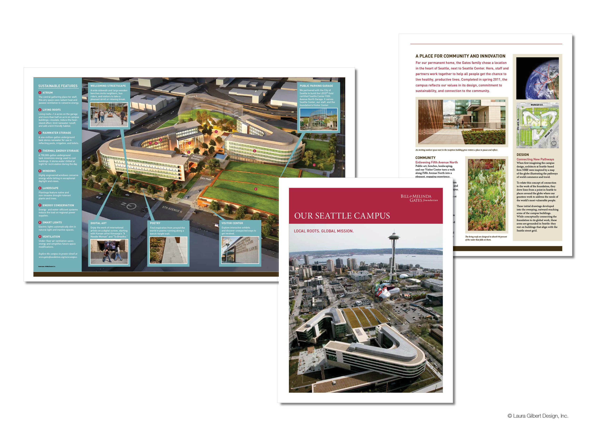 Printed guide to the foundation's new Seattle headquarters