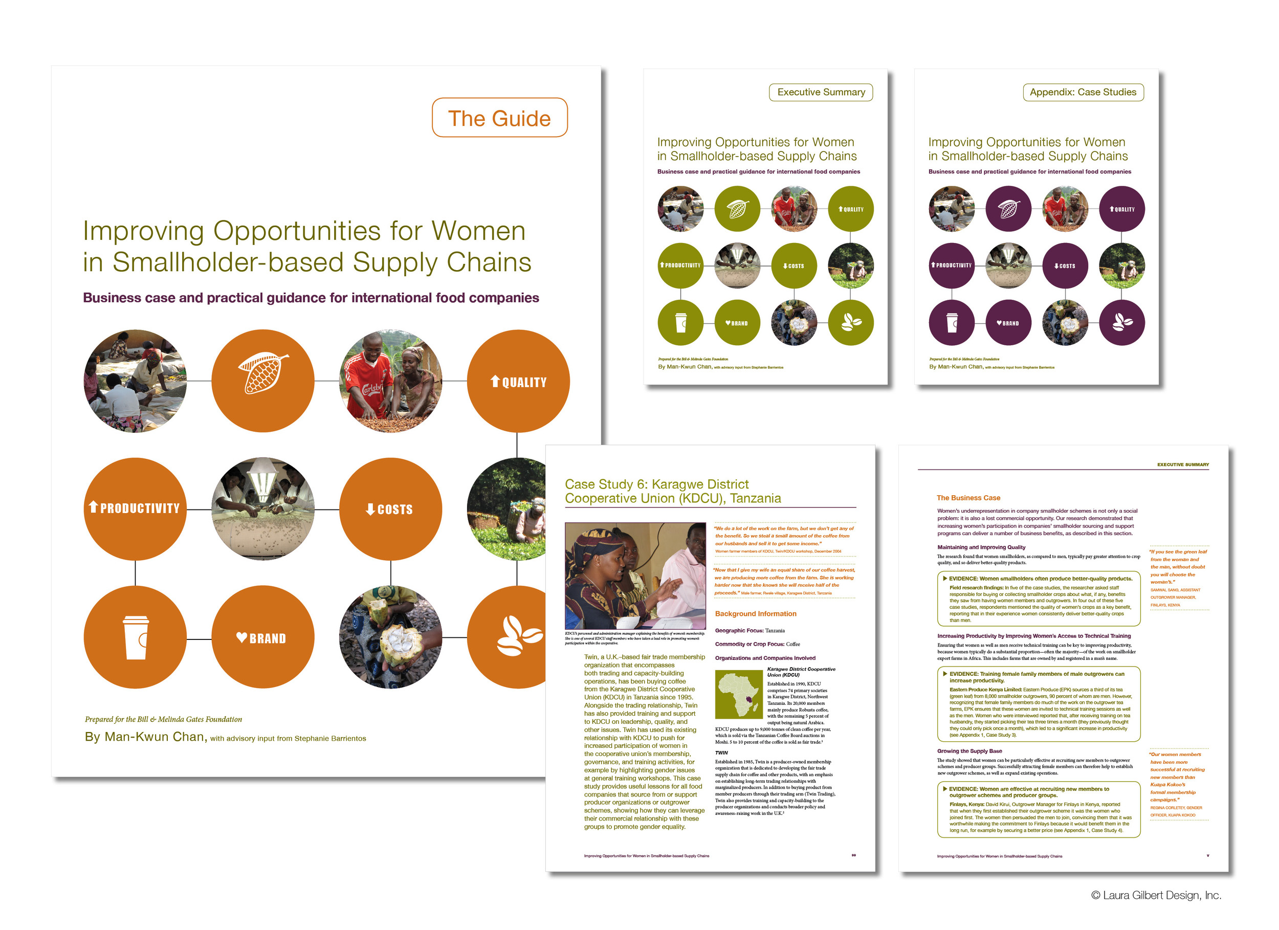 Report design for a foundation-supported initiative