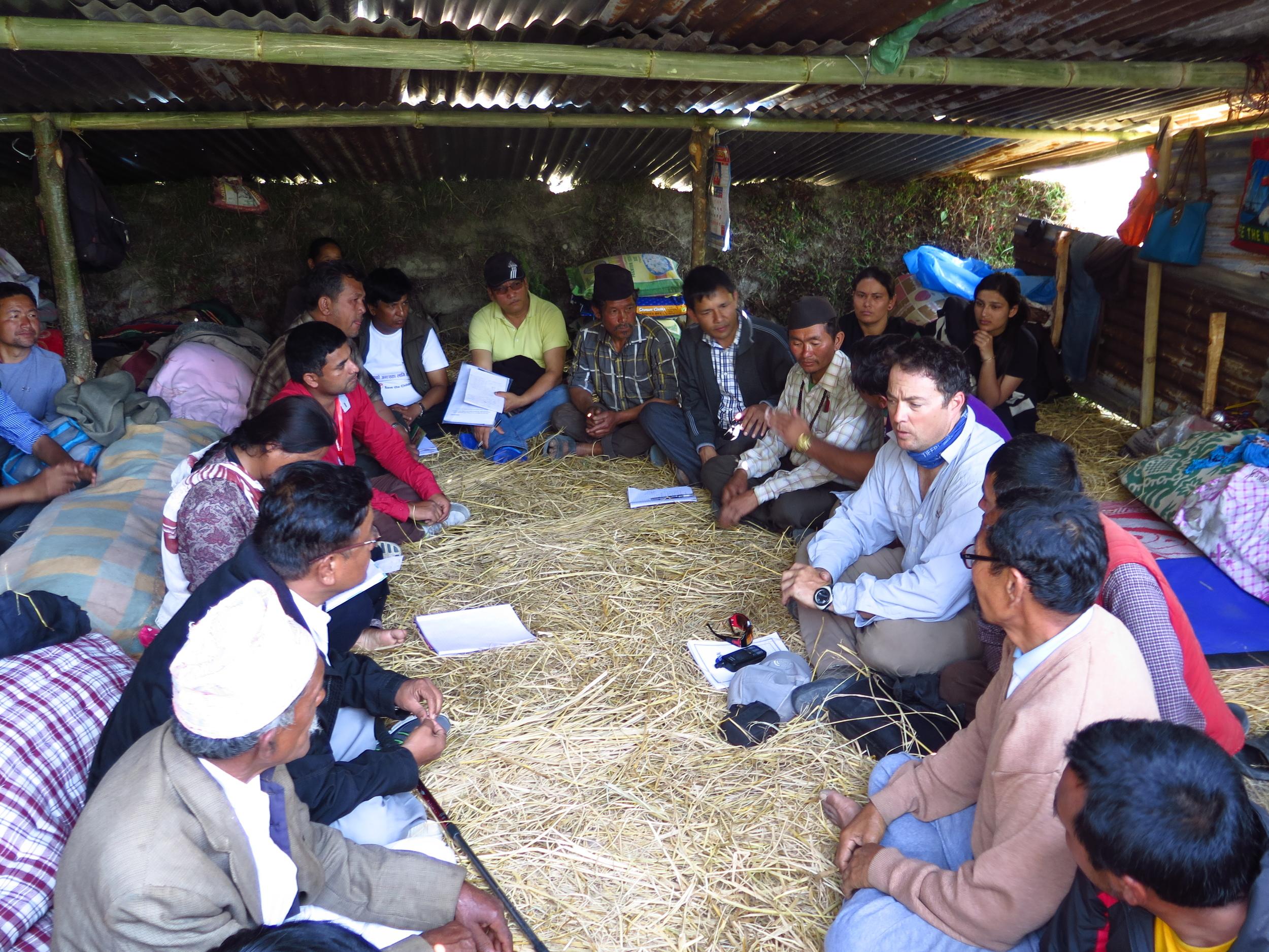 Planning meeting with members of HLF andHelambu teams