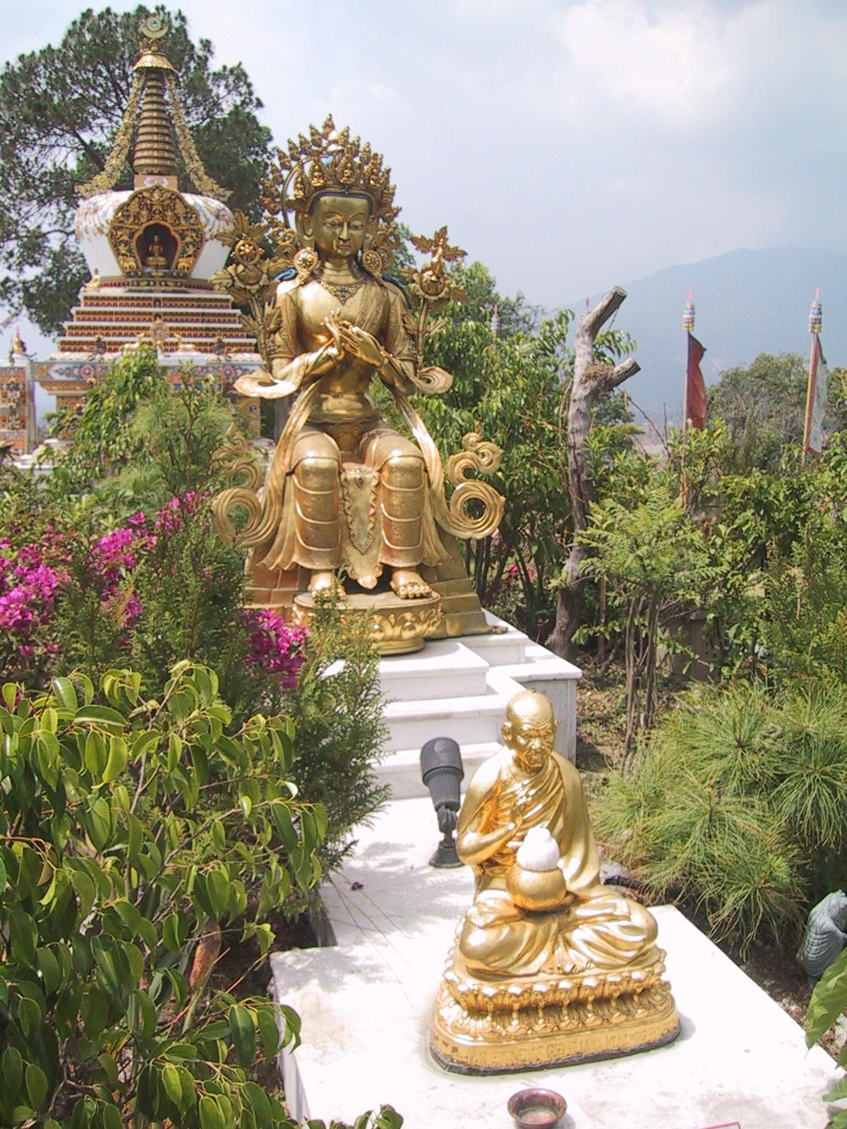 Maitreya in Kopon stupa gardens