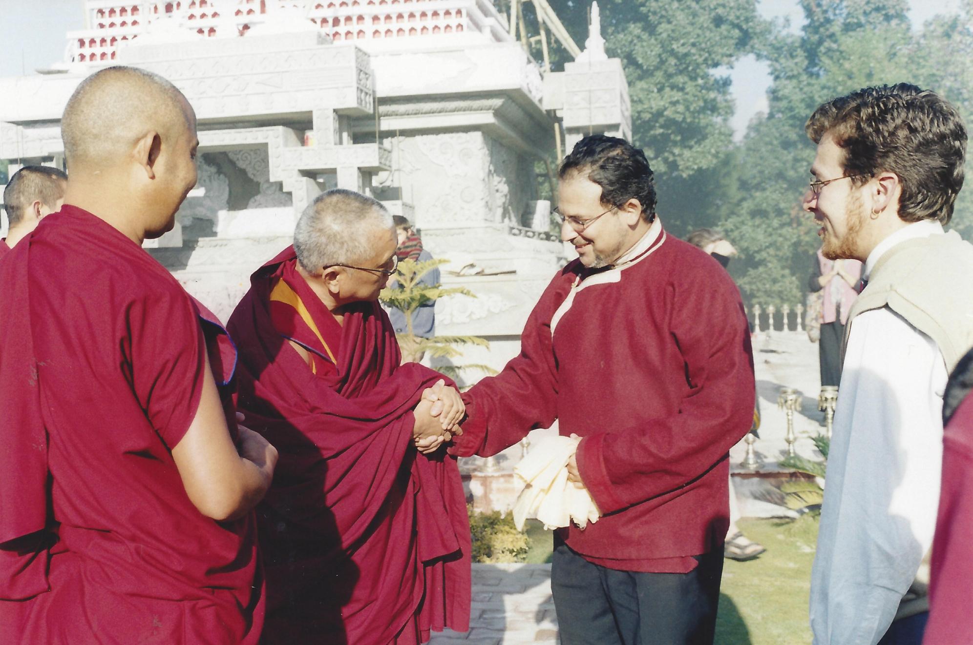 Lama Rangbar with Lama Zopa Rinpoche circa 2002