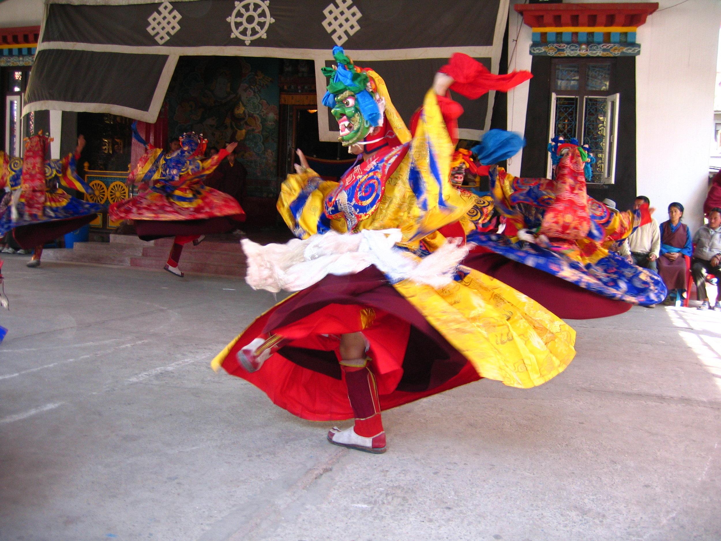 Cham Dances at Dudjom Gompa Tusal