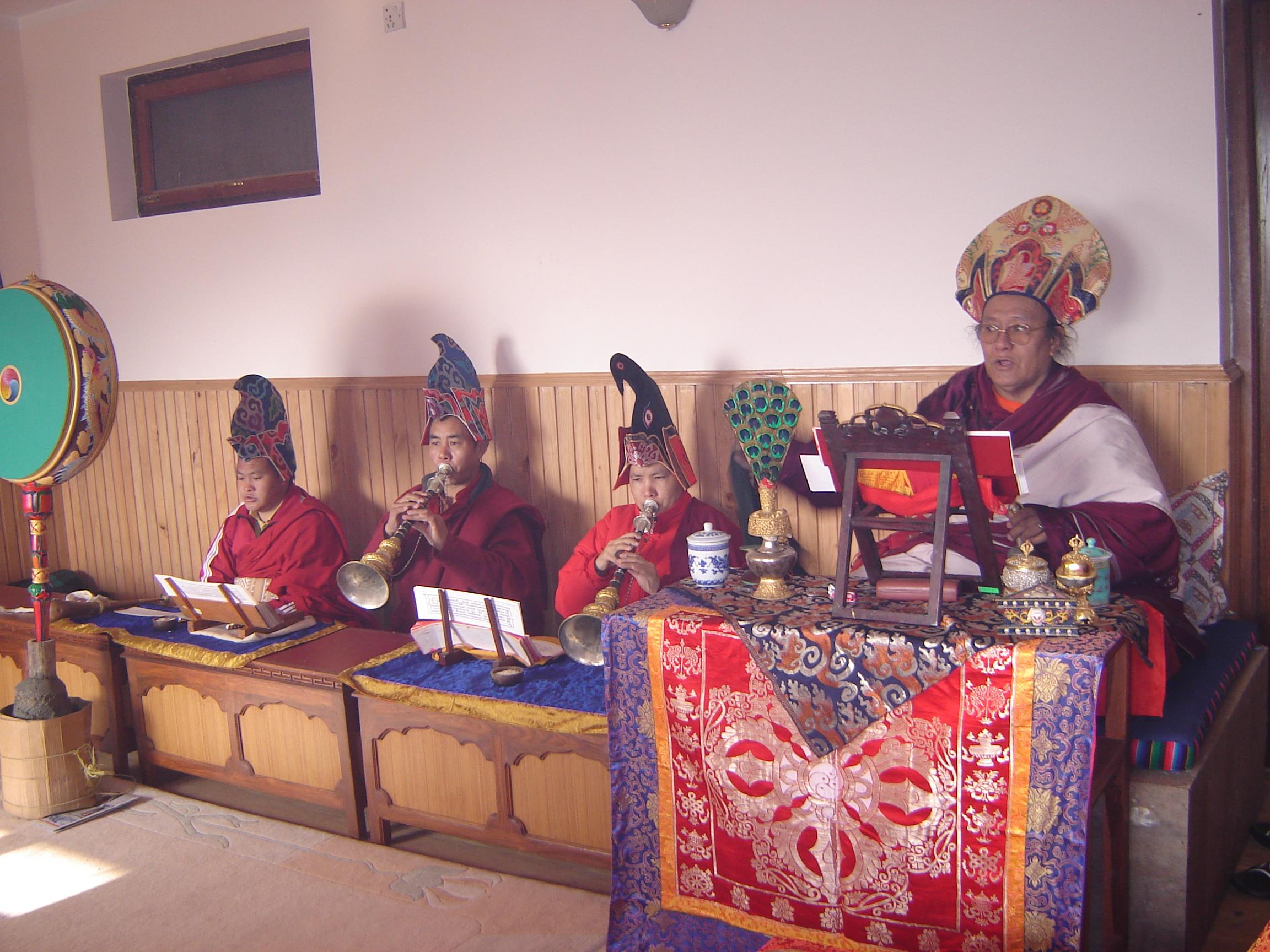 Lama Yedrol in Dechen Mingyurling Center Shrine