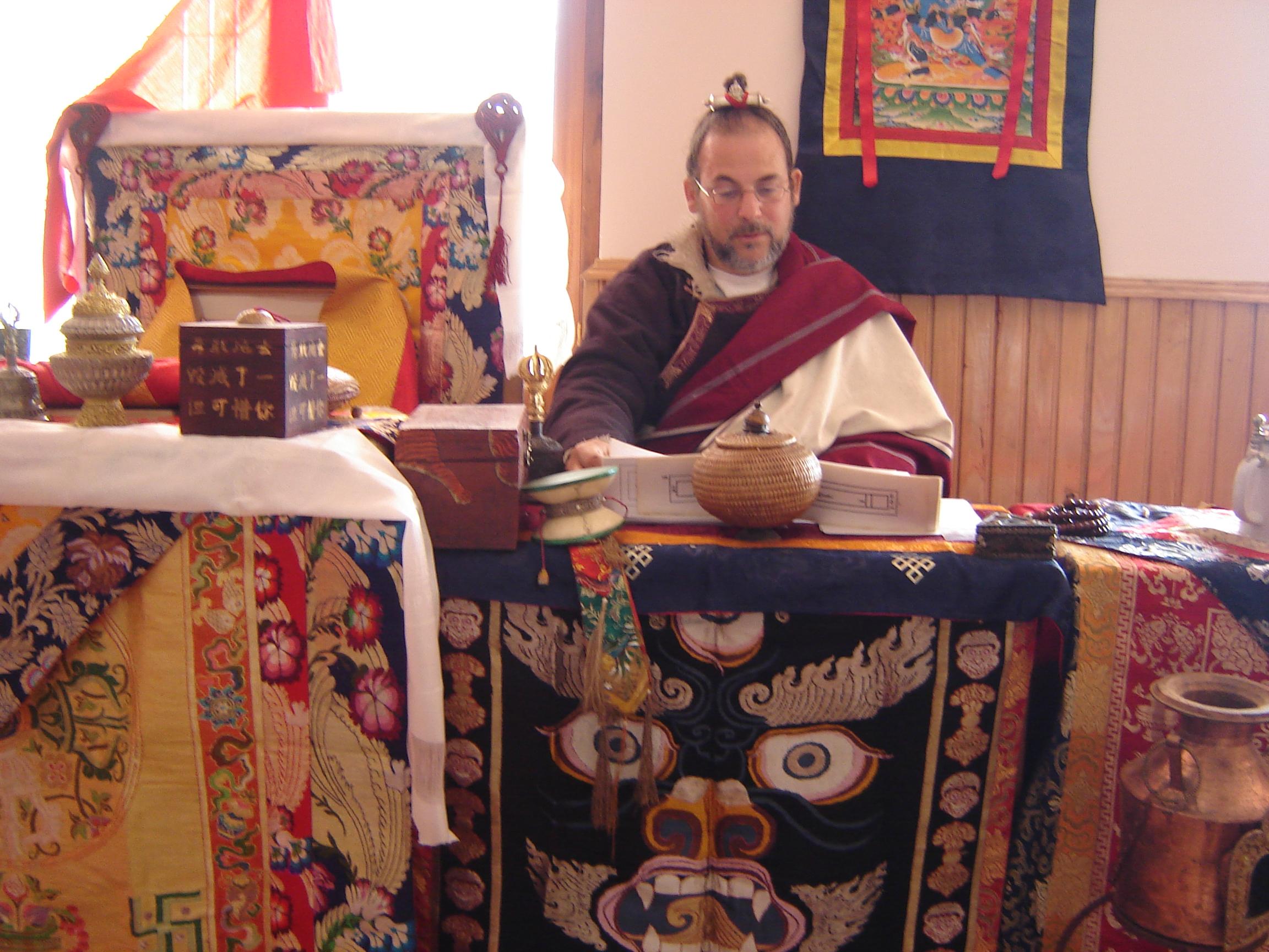 Lama Rangbar at Dechen Mingyurling Lhakhang