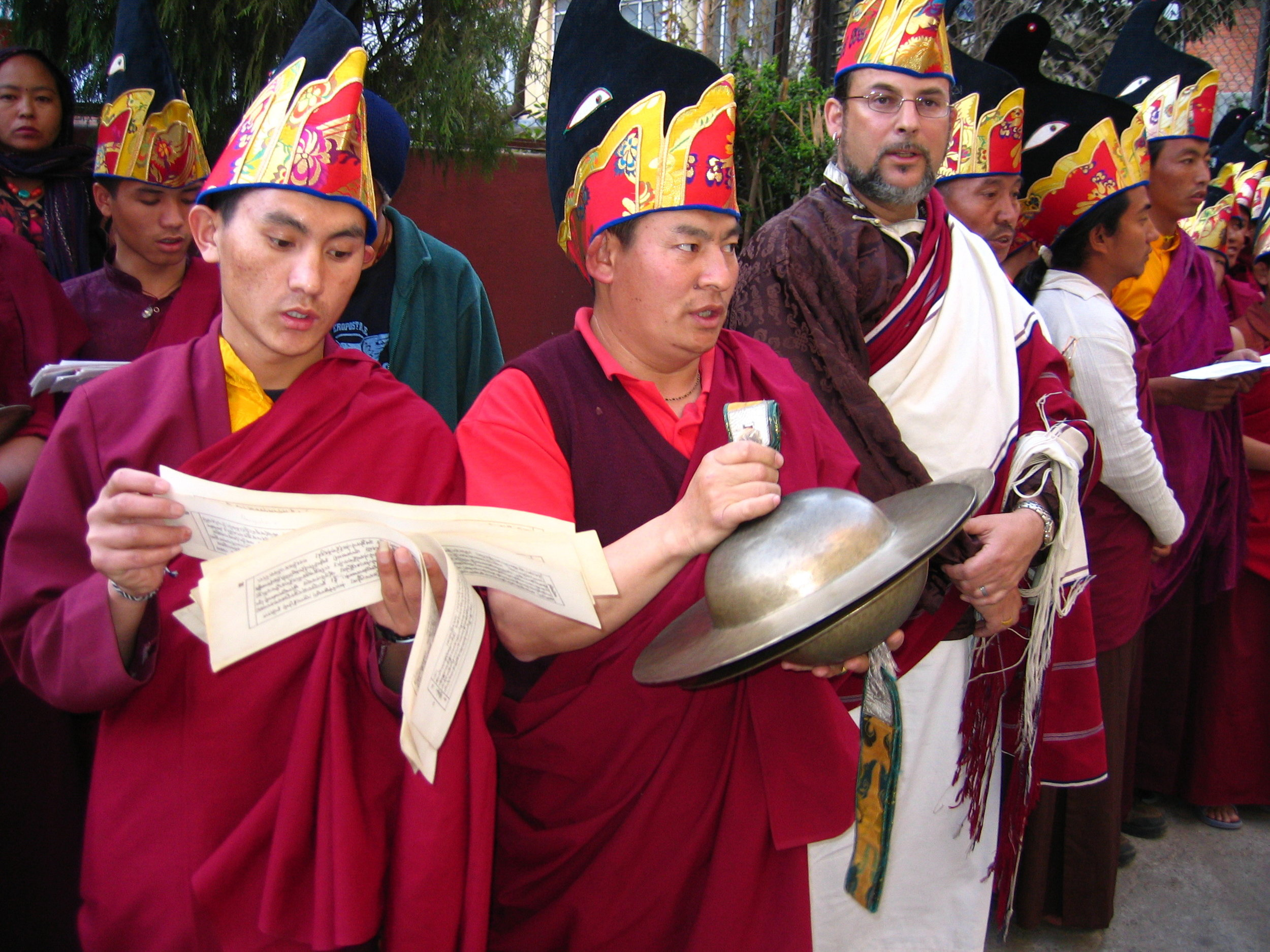 Preparing for the Torma Casting Dudjom Gompa