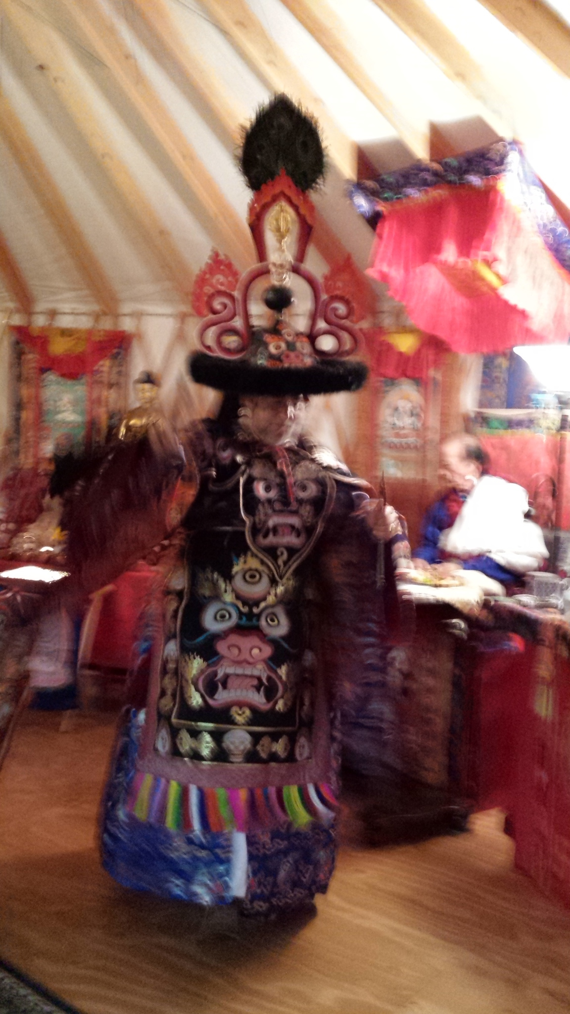 Black Hat Dance to remove hindrances at Phurba Trinlay Ling
