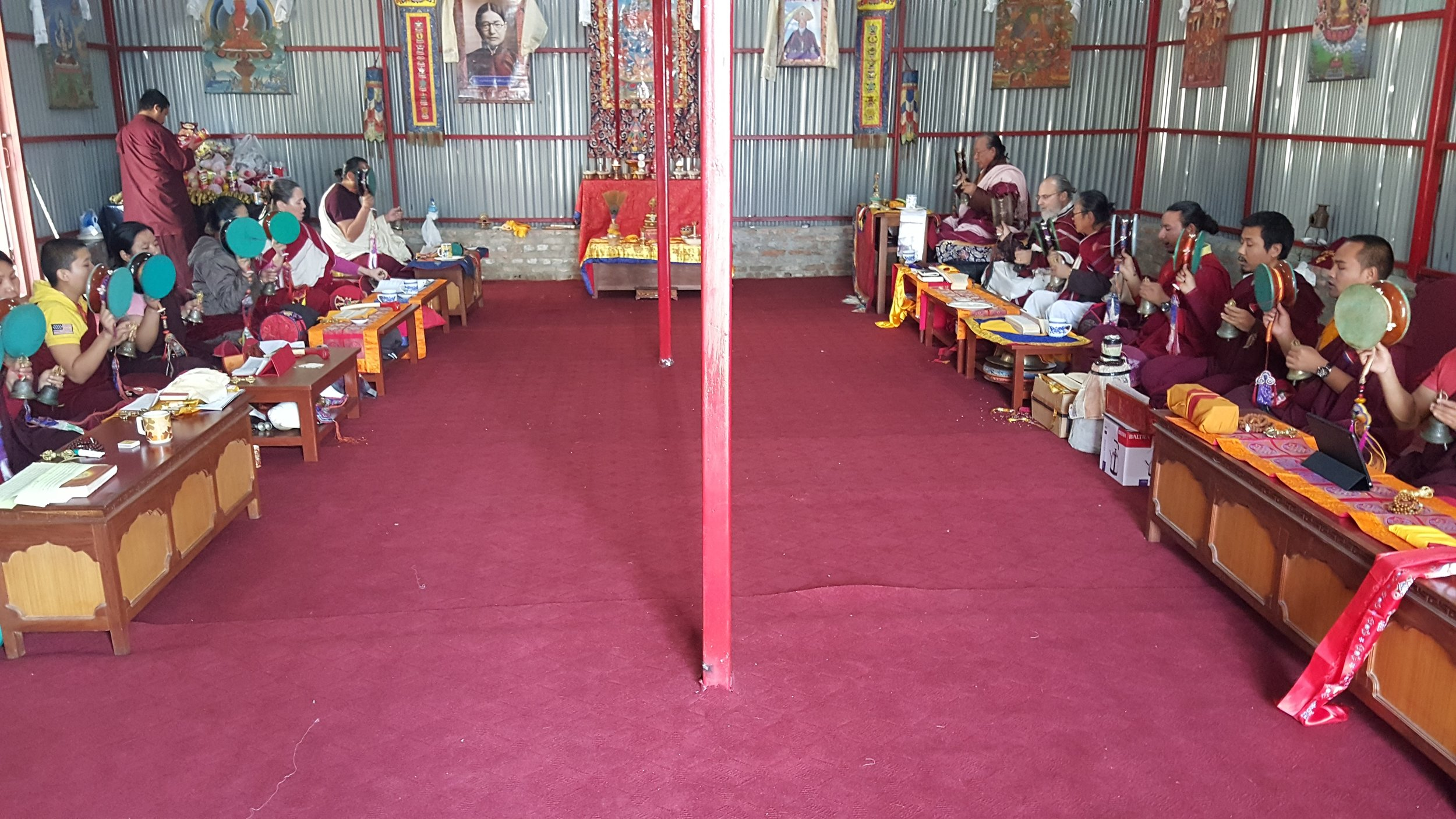 The newly completed Gompa