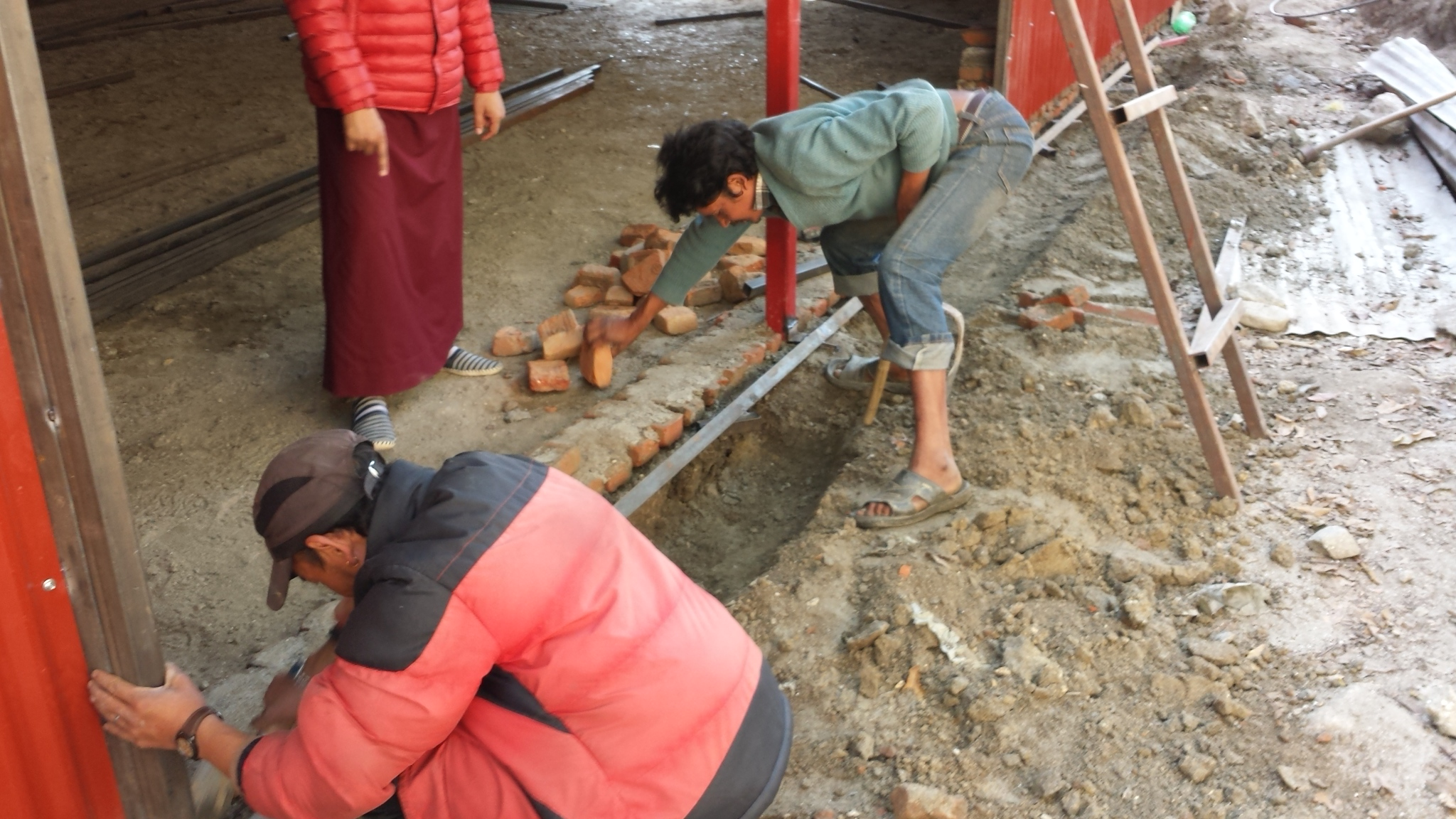The Gompa under construction