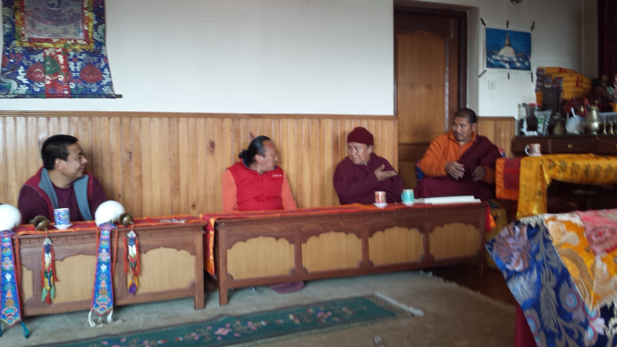 Tulku Thadral with Mendrup team